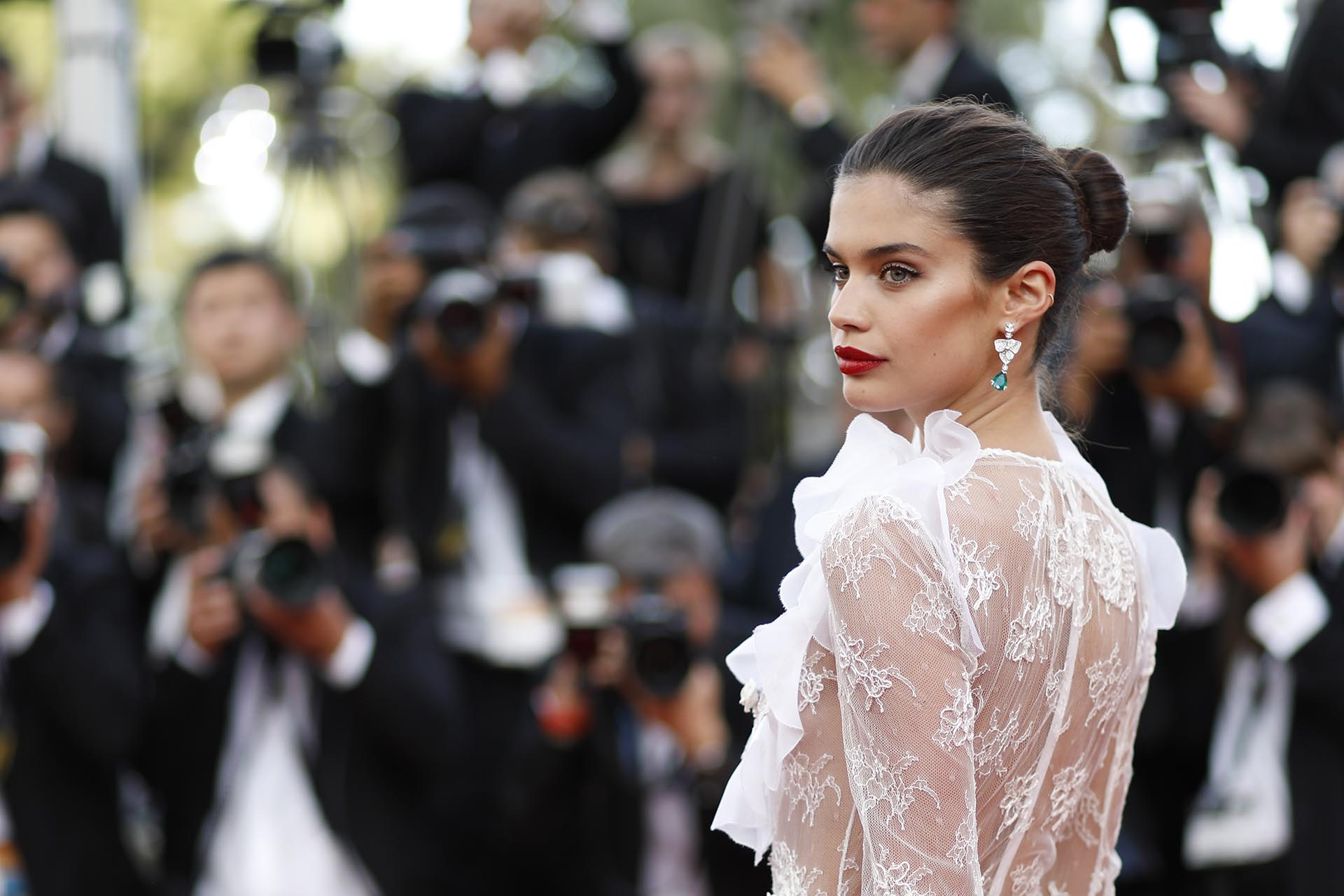 "La modelo Sara Sampaio en la presentación de  ""The Killing Of A Sacred Deer"""