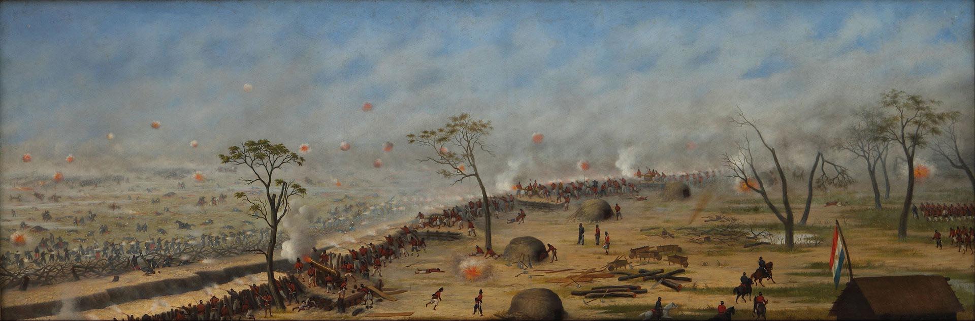 """""""Trinchera de Curupaytí"""", de Cándido López (1893)"""