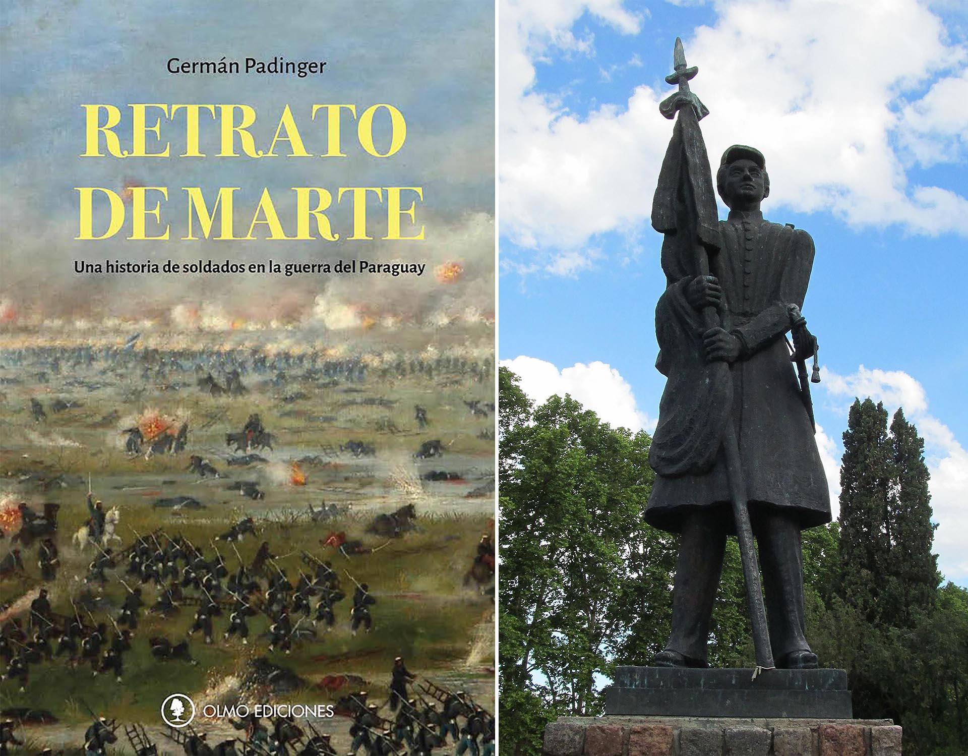 """Portada de """"Retrato de Marte"""" / Monumento a Mariano Grandoli en Rosario"""