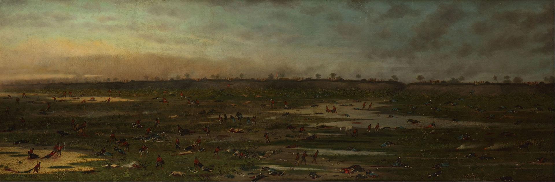 """""""Después de la Batalla"""" de Curupaytí, de Cándido López (1893)"""