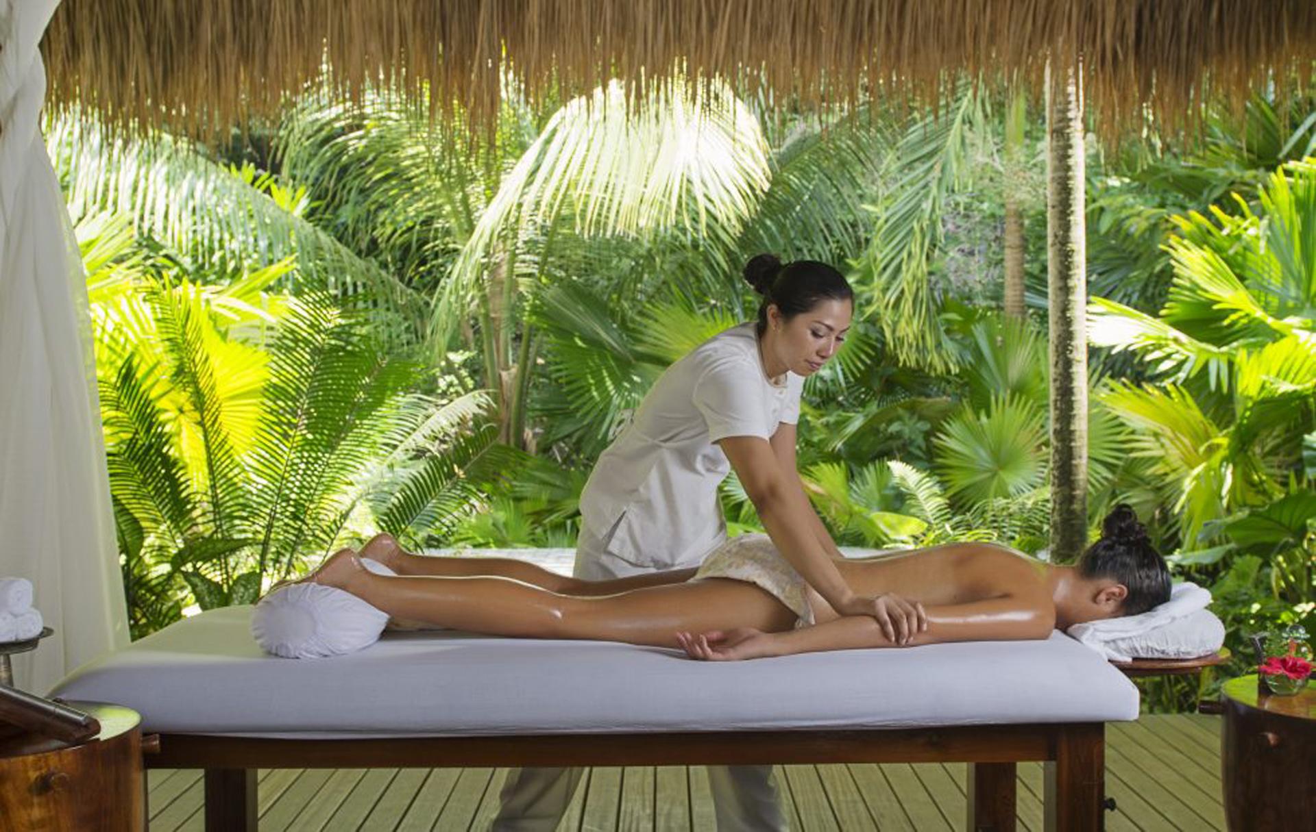 Clima tropical y vegetacion abundante, los mejores especialistas realizan sus tratamientos al sonido de los pájaros(Maia Luxury Resort & Spa)