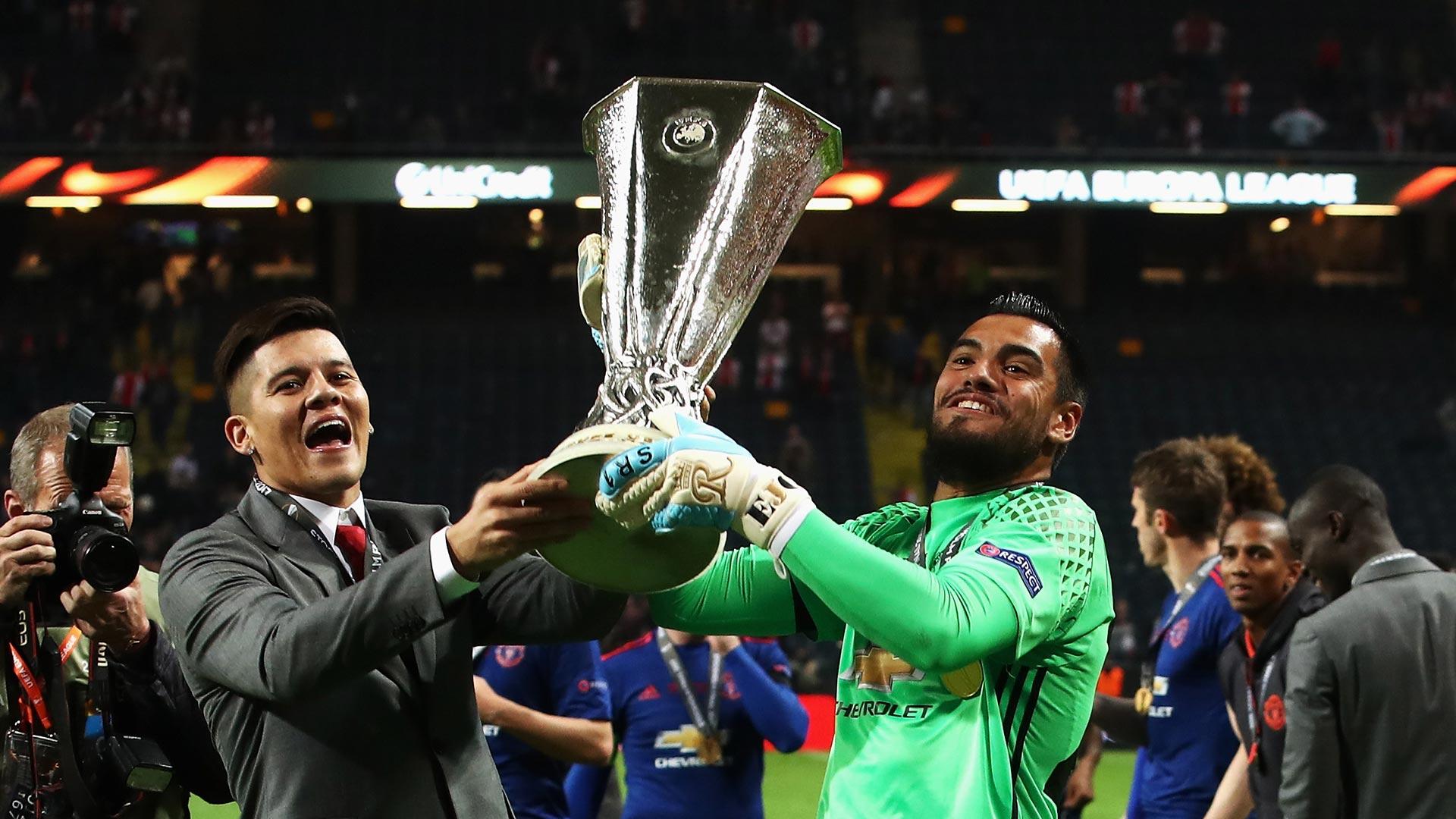 El arquero fue titular en la final de la Europa League (Getty Images)