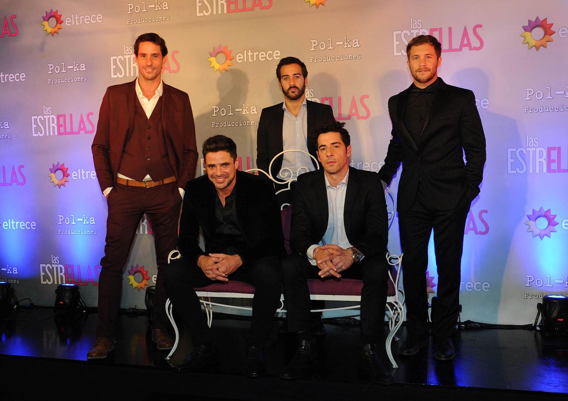 Gonzalo Valenzuela, Nicolás Francella, Luciano Castro, Esteban Lamothe y Nicolás Riera