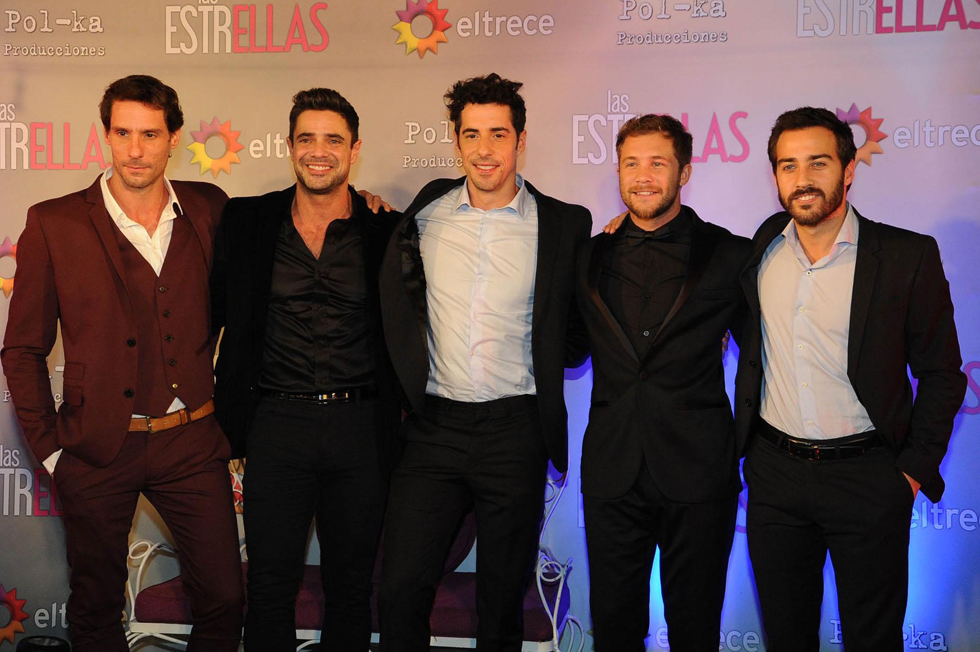 Gonzalo Valenzuela, Luciano Castro, Esteban Lamothe, Nicolás Riera y Nicolás Francella (Crédito: Verónica Guerman / Teleshow)