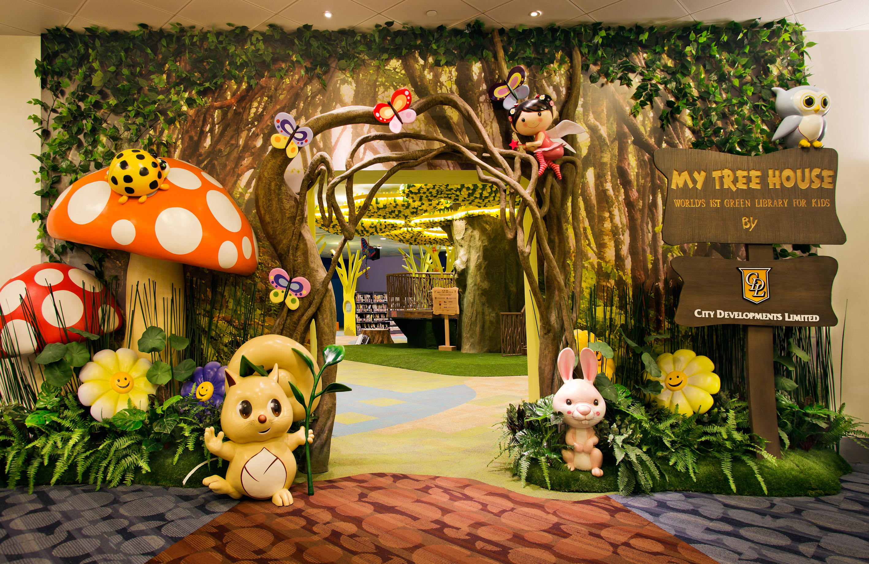 My Tree House Library, en Singapur, es la primera biblioteca ecológica para niños del mundo (National Library Singapore)