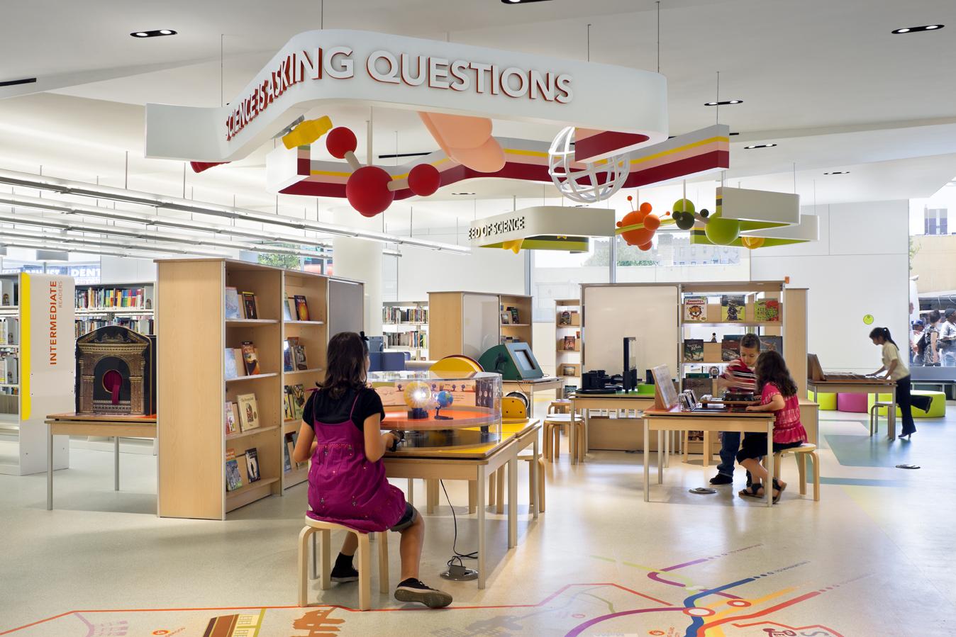 La Library Discovery Centre, en Nueva York, Estados Unidos (Michael Moran)