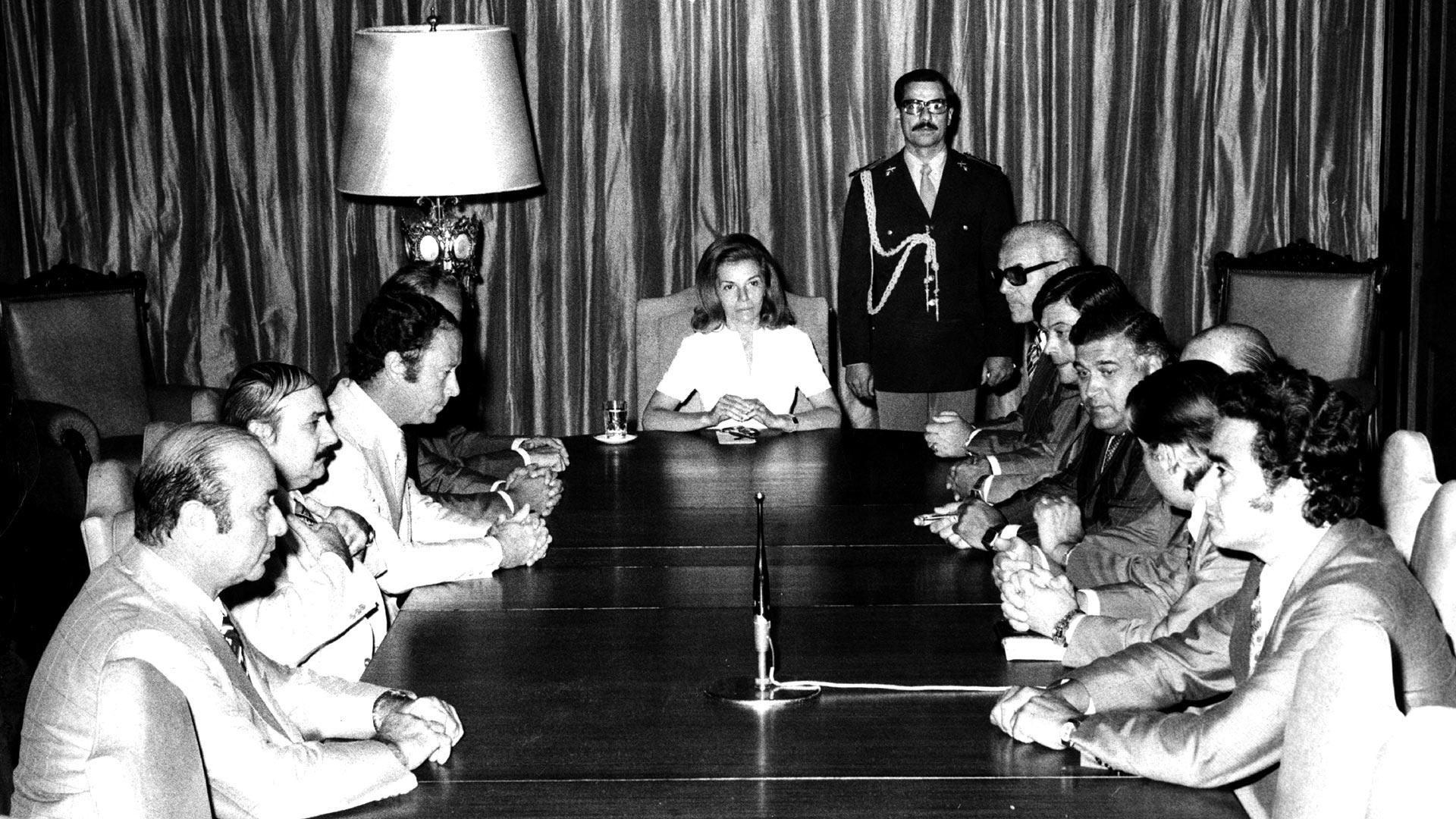 Isabel Perón firmó el decreto secreto 993/75, continuación del anterior (Getty Images)
