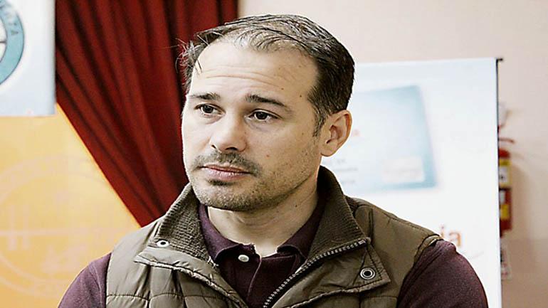 Damián Straschenco, el dirigente sindical que sufrió el atentado.