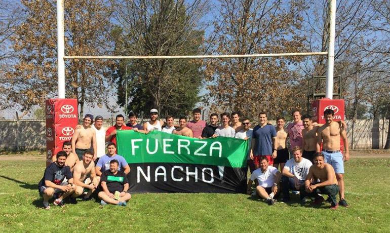 """Decenas de clubes del país mostraron banderas con la leyenda """"Fuerza Nacho"""""""