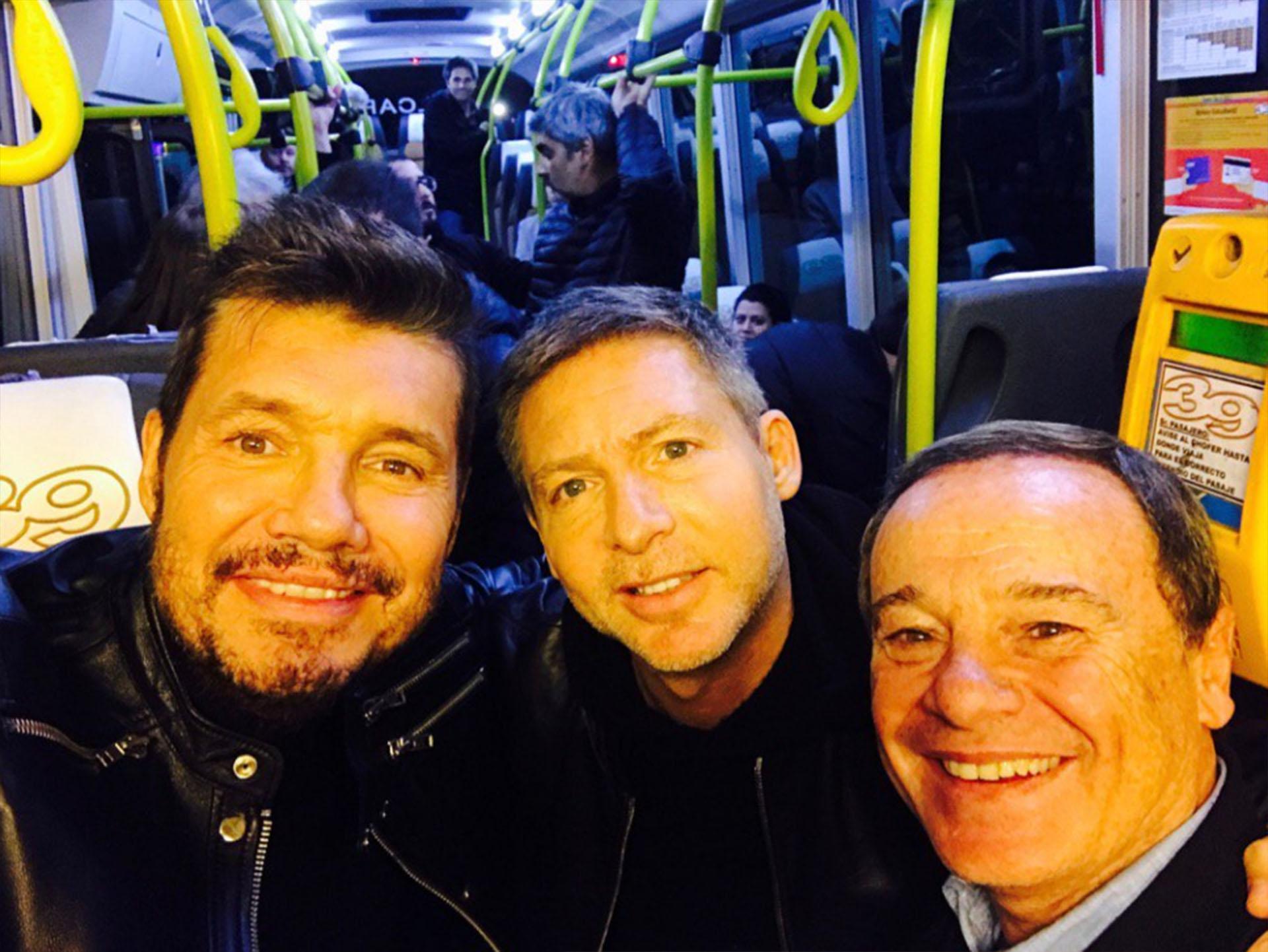 Marcelo Tinelli junto a Adrián Suar y Pablo Codevilla