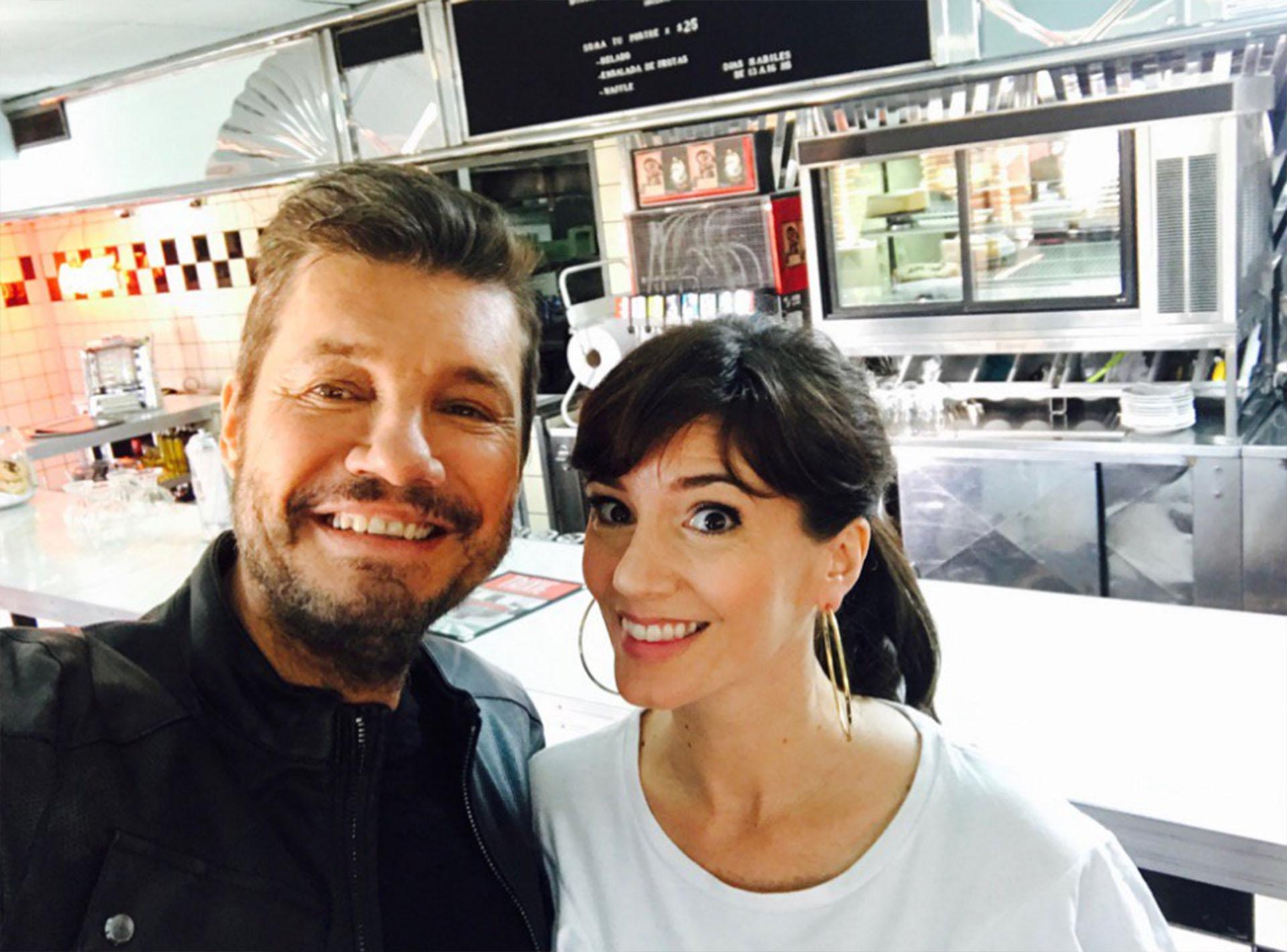 Marcelo Tinelli y Griselda Siciliani