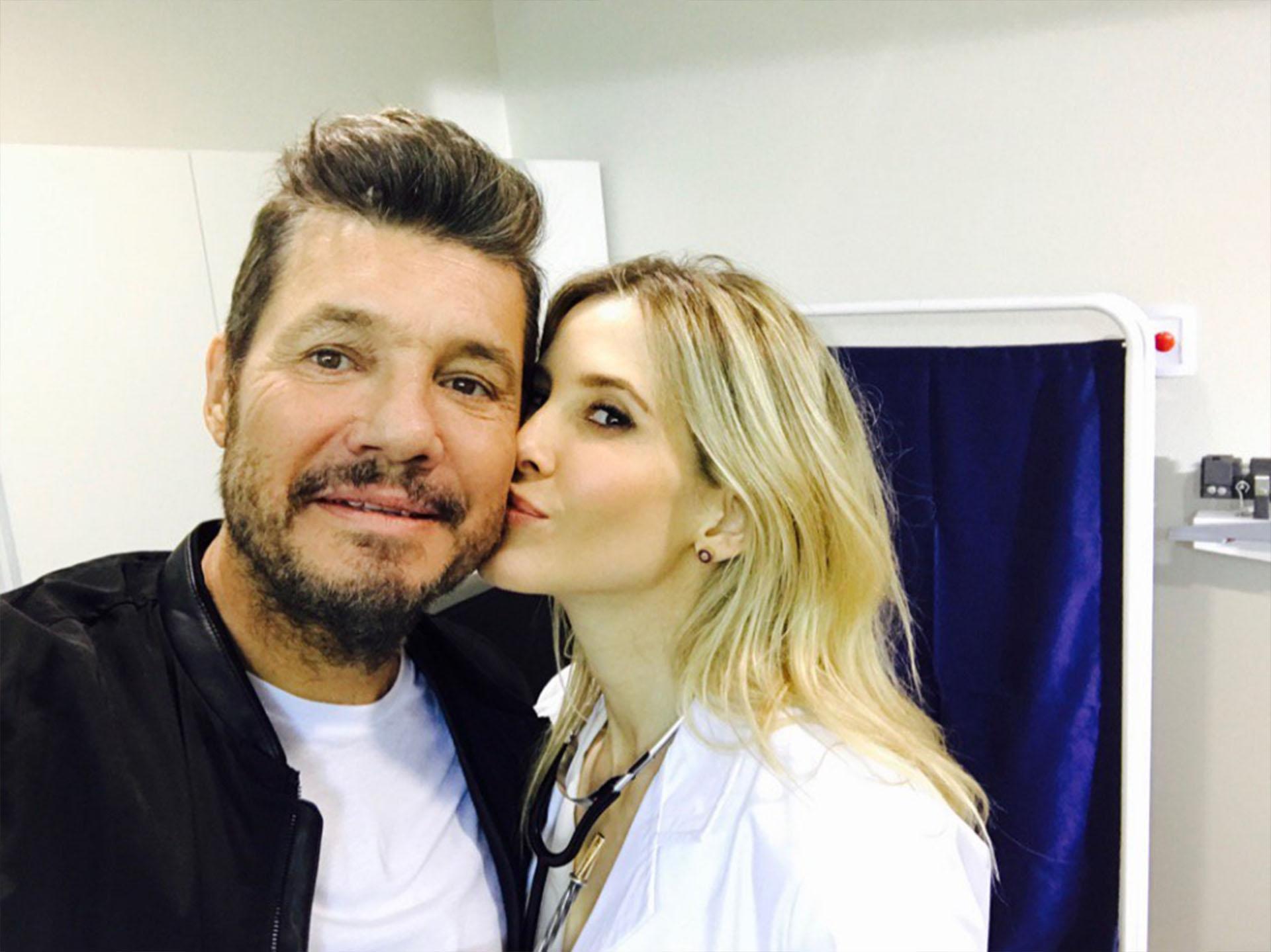Marcelo Tinelli y Guillermina Valdés