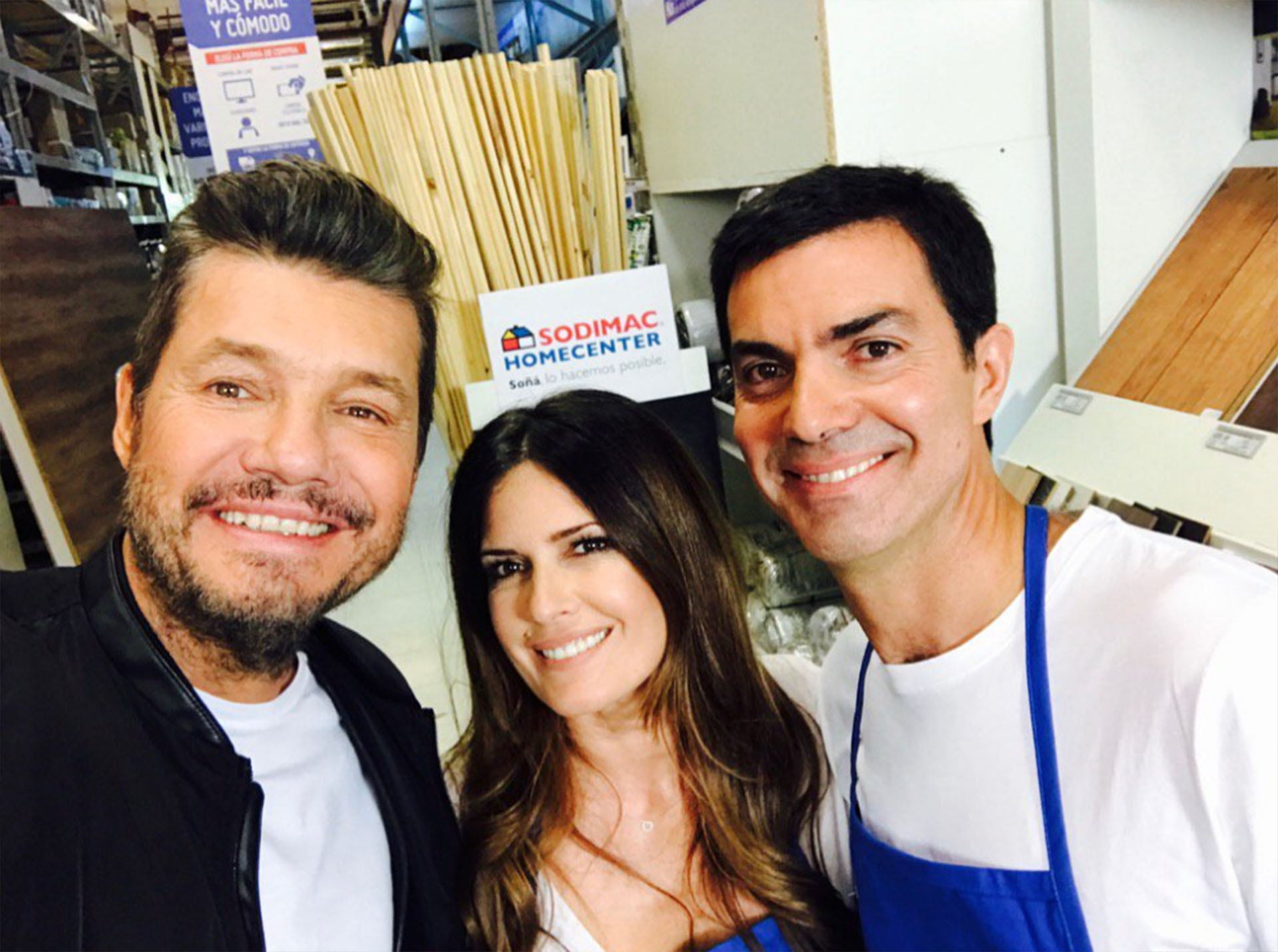 Marcelo Tinelli, Isabel Macedo y Juan Manuel Urtubey