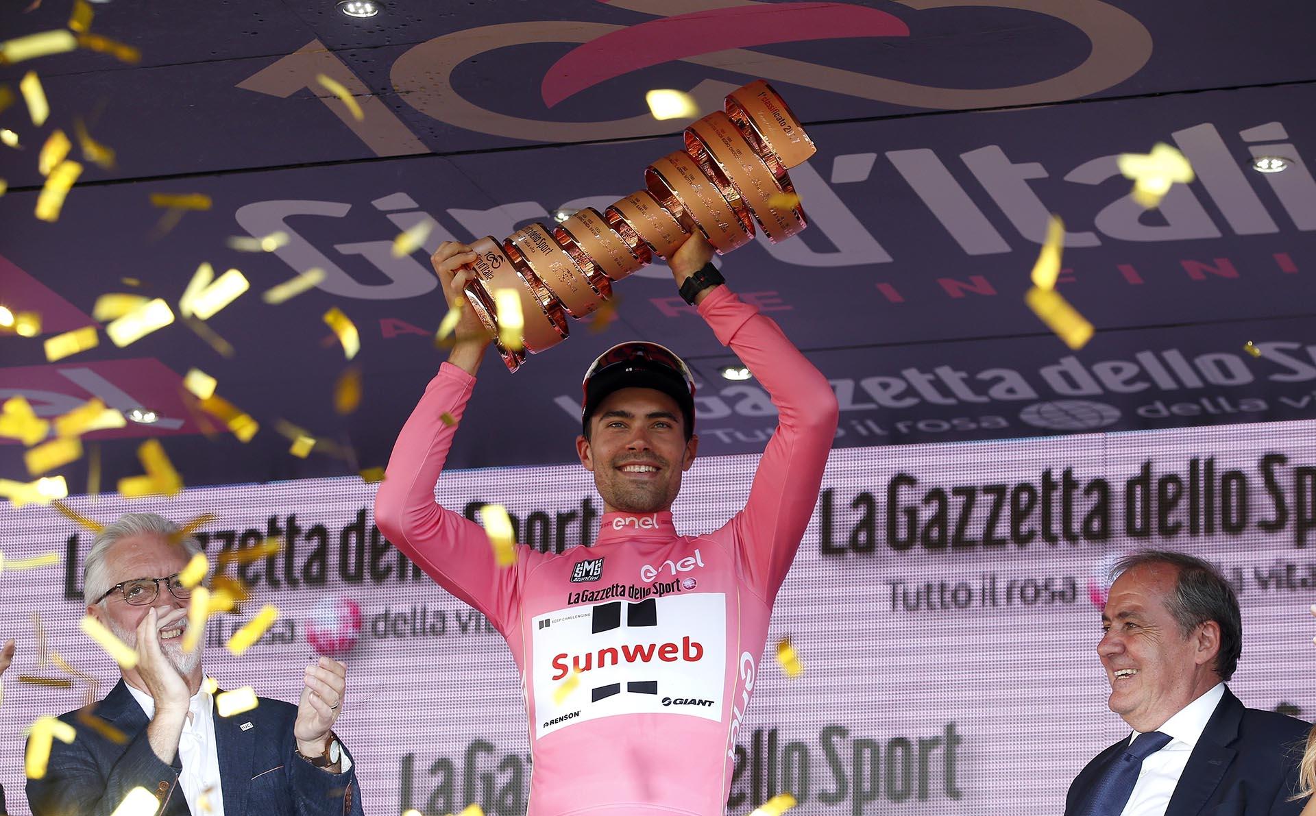 Tom Dumoulin, de 26 años, conquistó su primer Giro de Italia