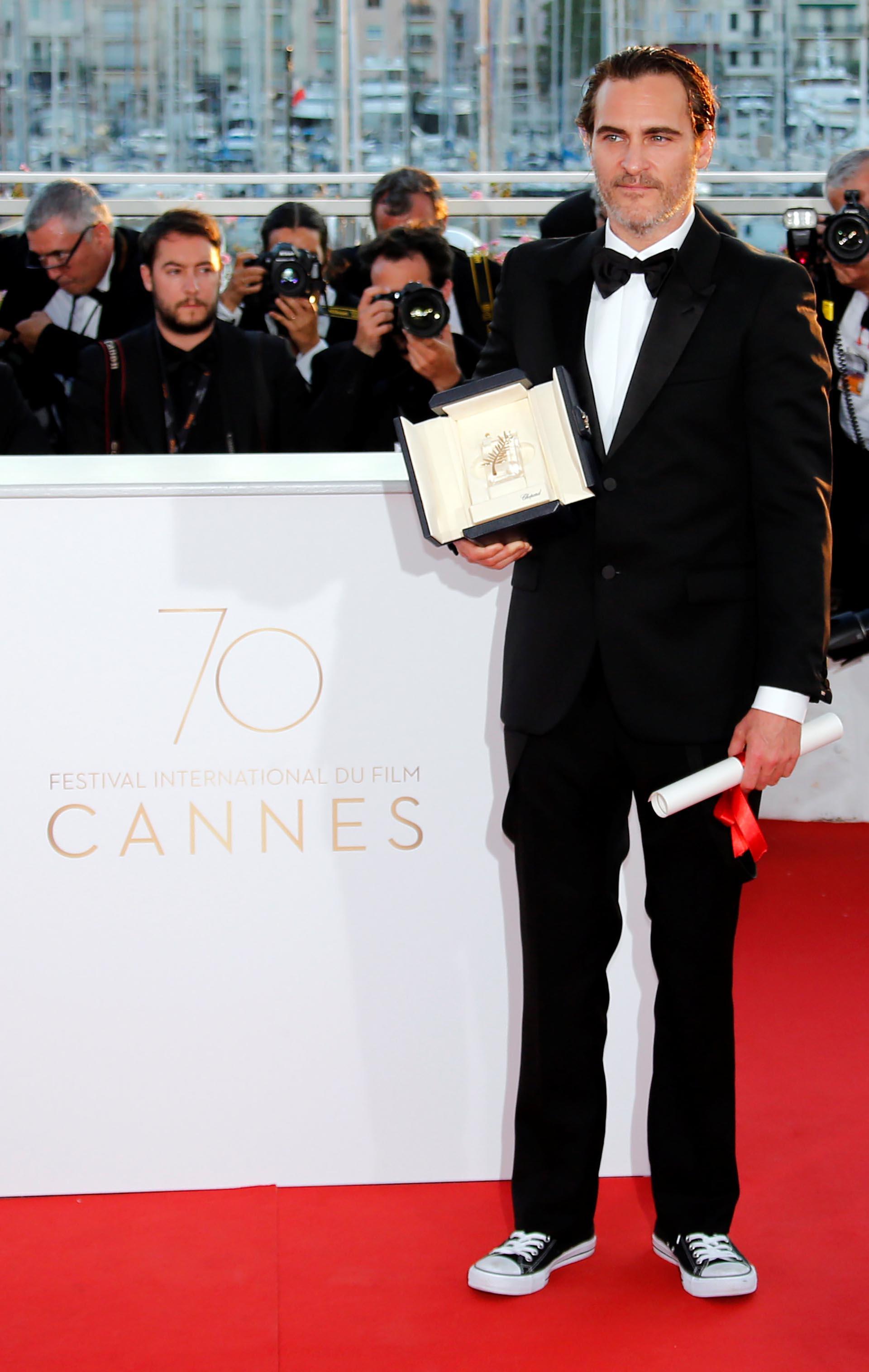 "Joaquin Phoenix, actor de ""You Were Never Really Here"" REUTERS/Jean-Paul Pelissier"