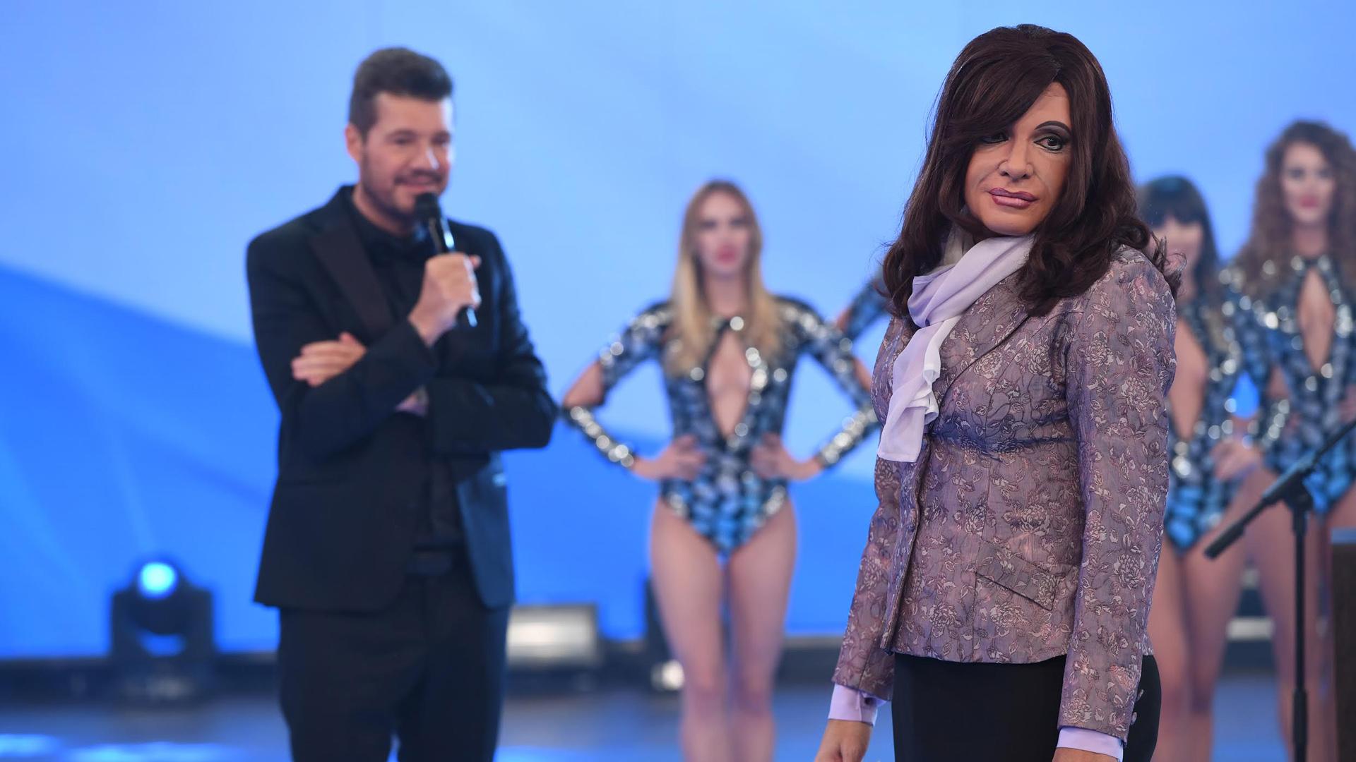 Martín Bossi imitando a Cristina Fernández de Kirchner