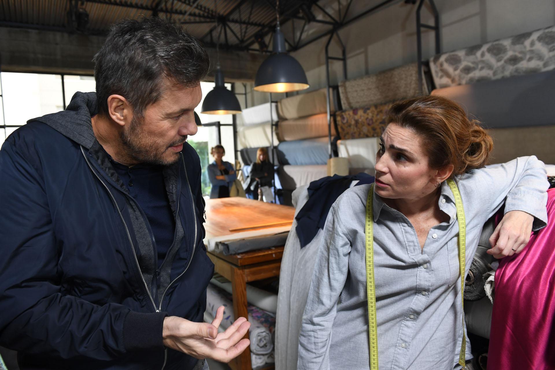 Marcelo Tinelli con Valeria Bertuccelli