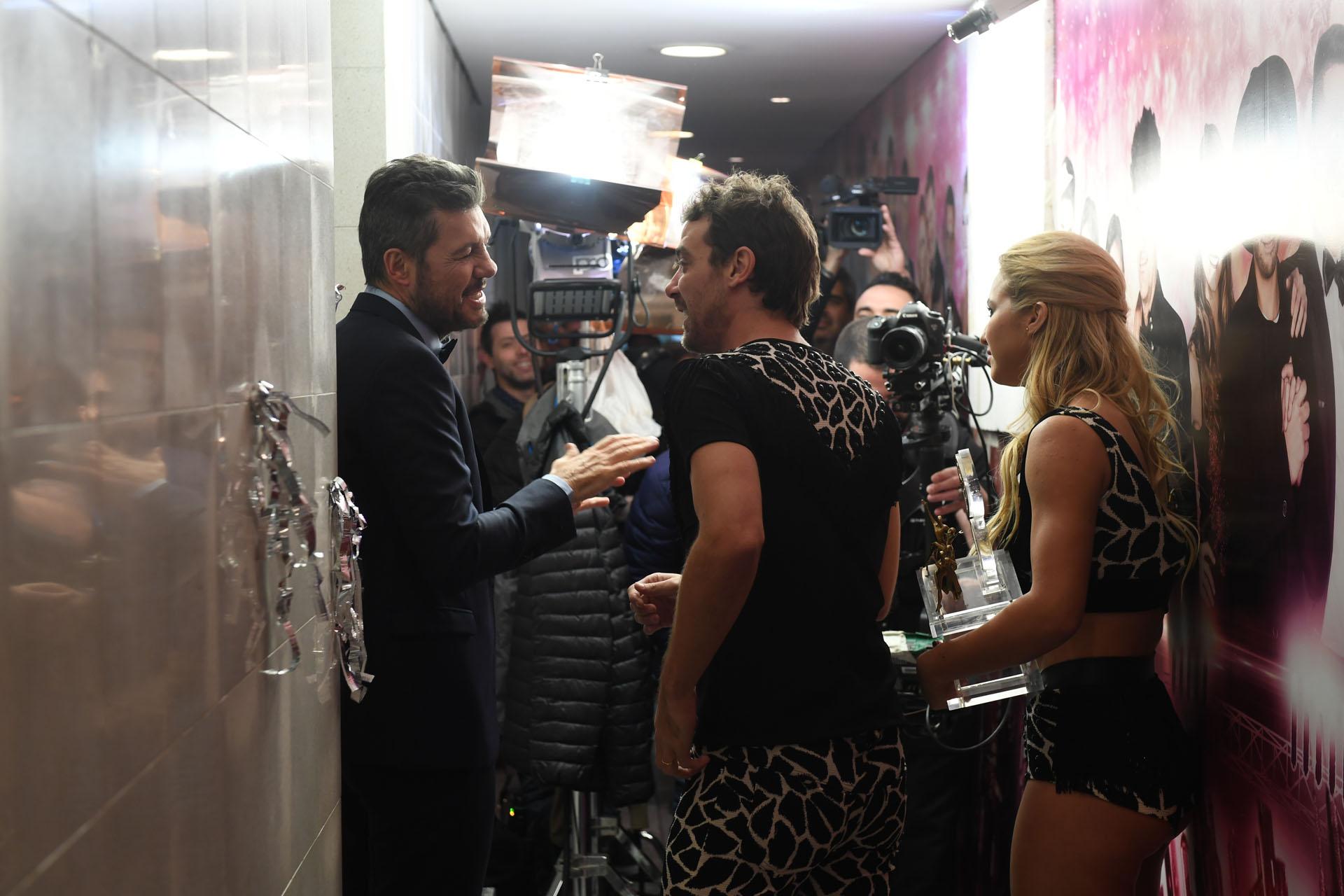 Backstage de la grabación de Marcelo Tinelli con pedro Alfonso y Flor Vigna