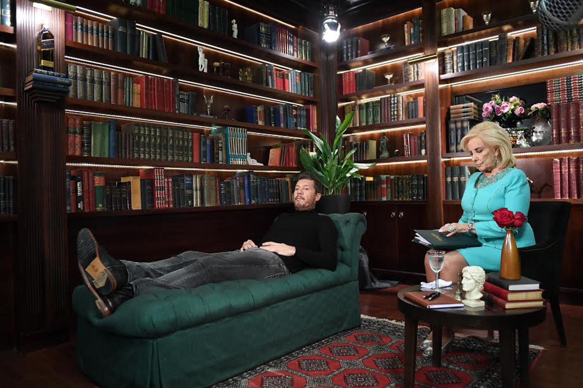 Marcelo Tinelli con Mirtha Legrand en la ficción de ShowMatch
