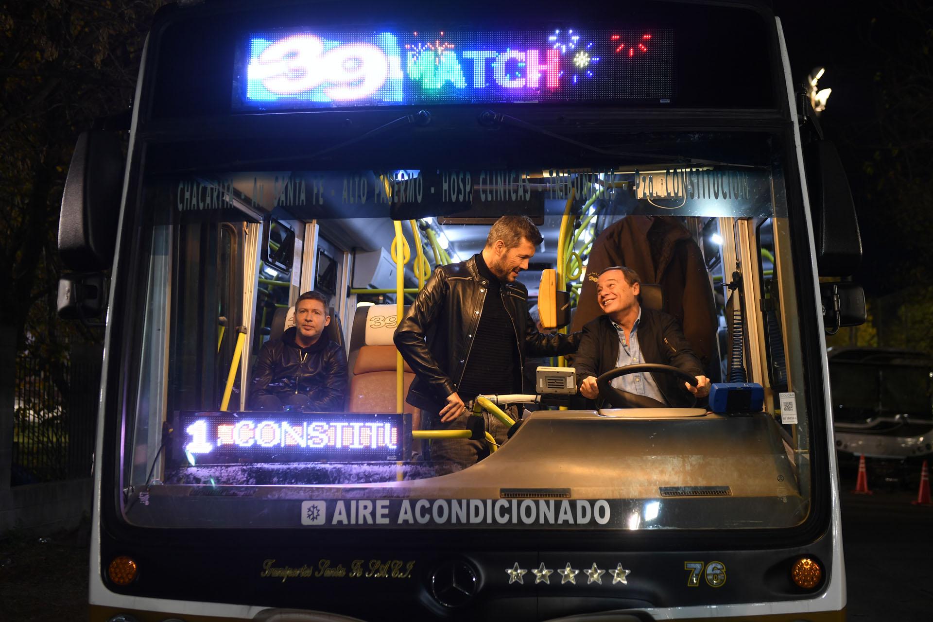 Marcelo Tinelli con Adrián Suar y Pablo Codevilla en la ficción de ShowMatch
