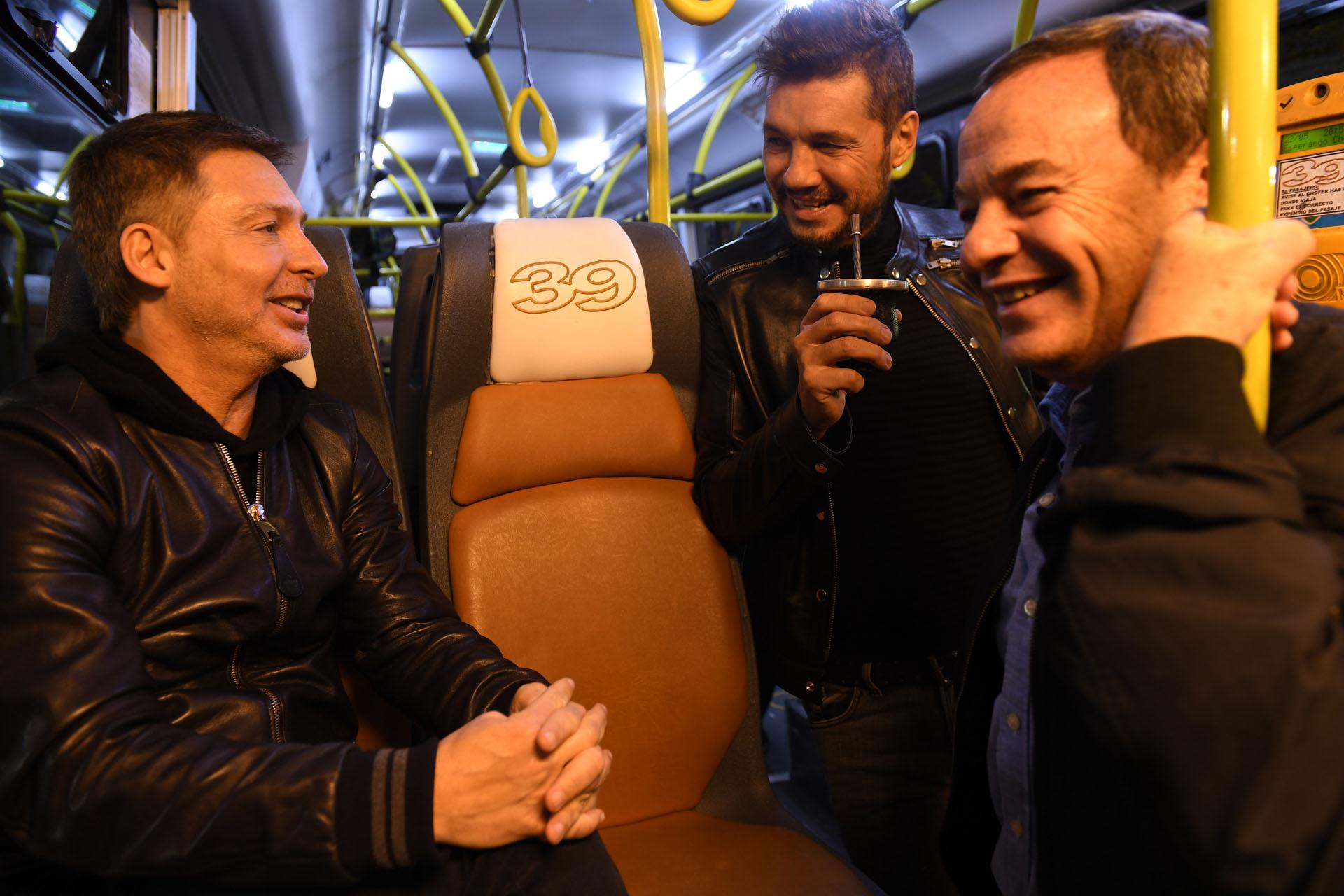 Marcelo Tinelli con Adrián Suar y Pablo Codevilla