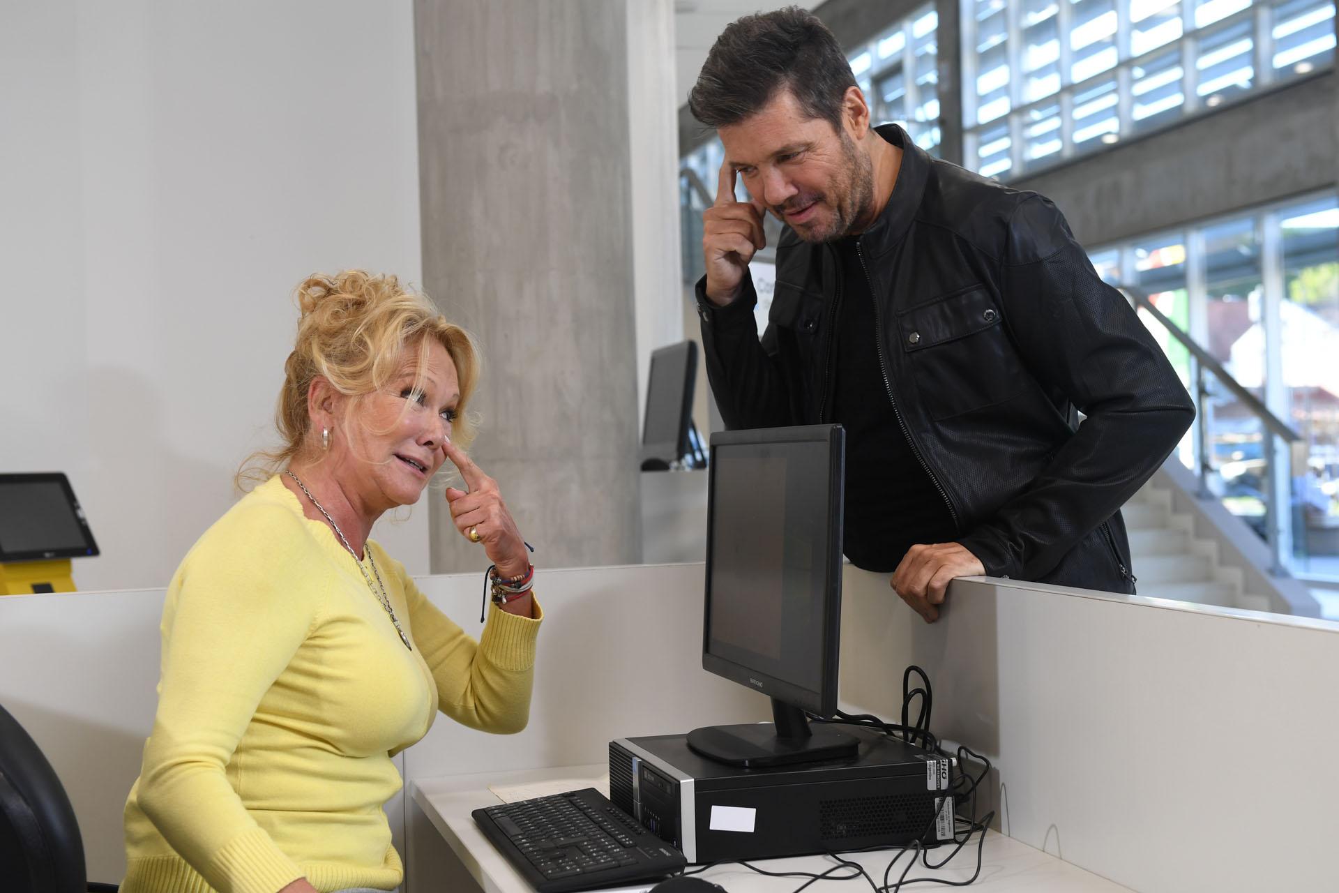 Marcelo Tinelli con Soledad Silveyra