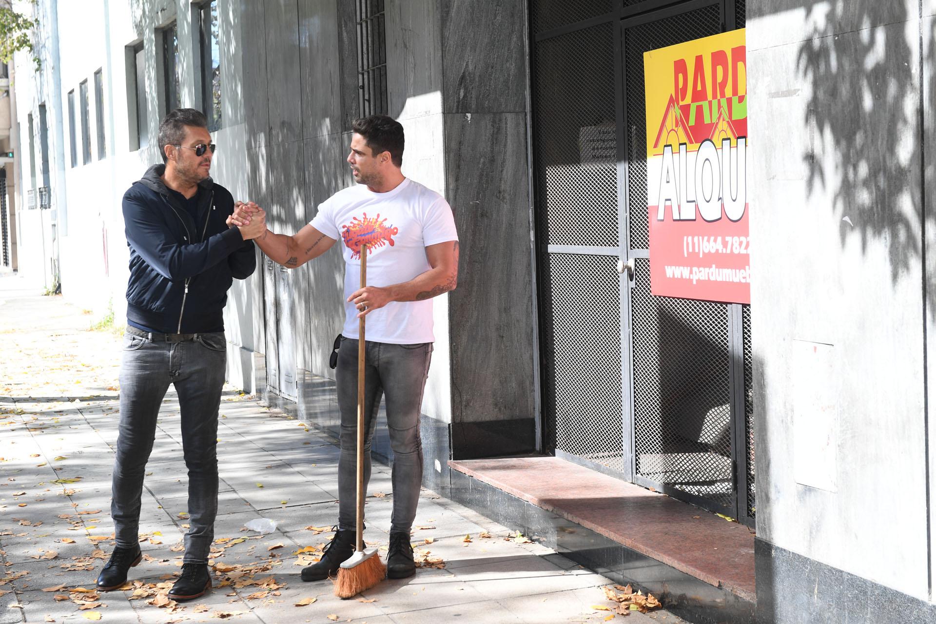 Marcelo Tinelli con Luciano Cáceres