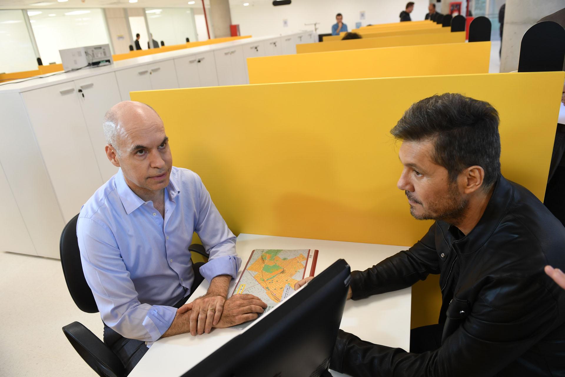 Marcelo Tinelli con Horacio Rodríguez Larreta en el sketch