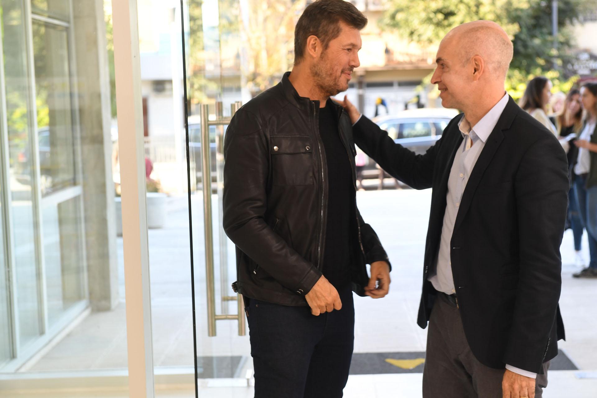 Marcelo Tinelli con Horacio Rodríguez Larreta