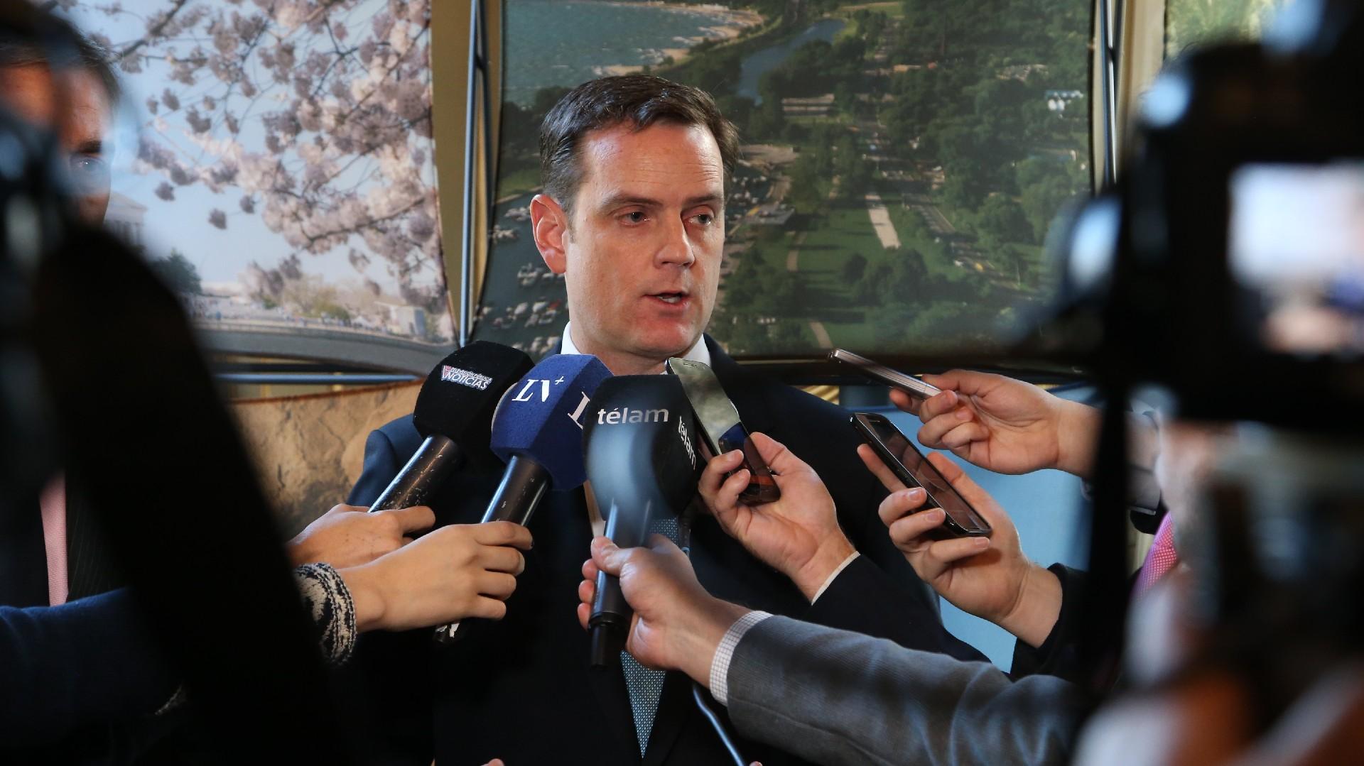 Toom Cooney, encargado de negocios de los EEUU en la Argentina (Fotos: Nicolás Aboaf)