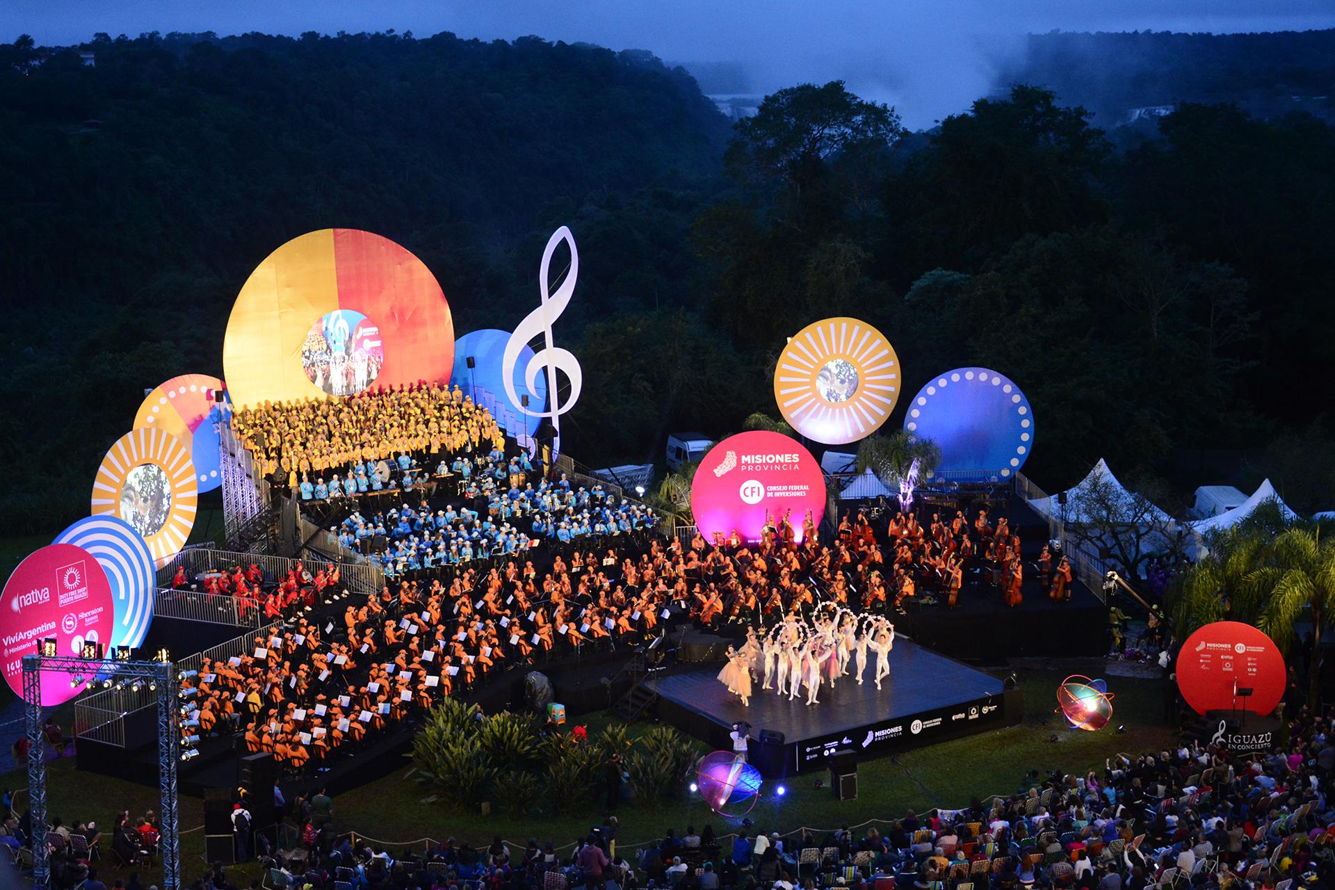 La octava edición de Iguazú en Concierto se realizó del 23 al 28 de mayo en Puerto Iguazú, Misiones