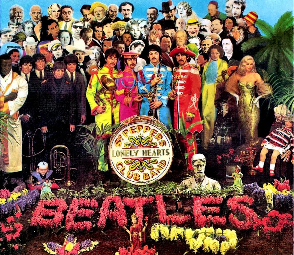 """La famosa tapa del disco """"Sgt. Pepper's Lonely Hearts Club Band"""", de 1967"""
