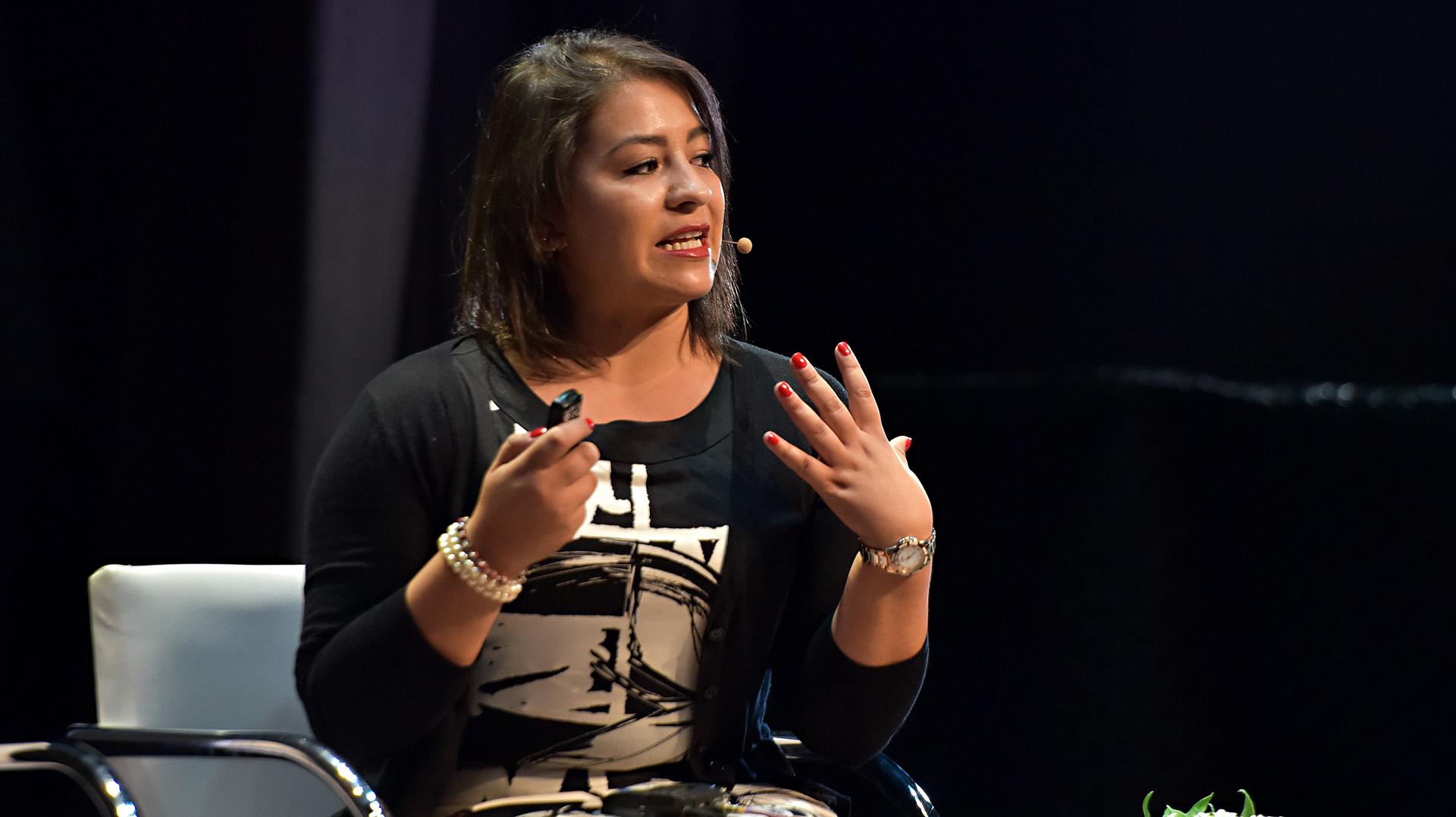 Nadia Sénchez de la fundación 'She Is', que trabaja con mujeres víctimas de Conflictos armados en Colombia