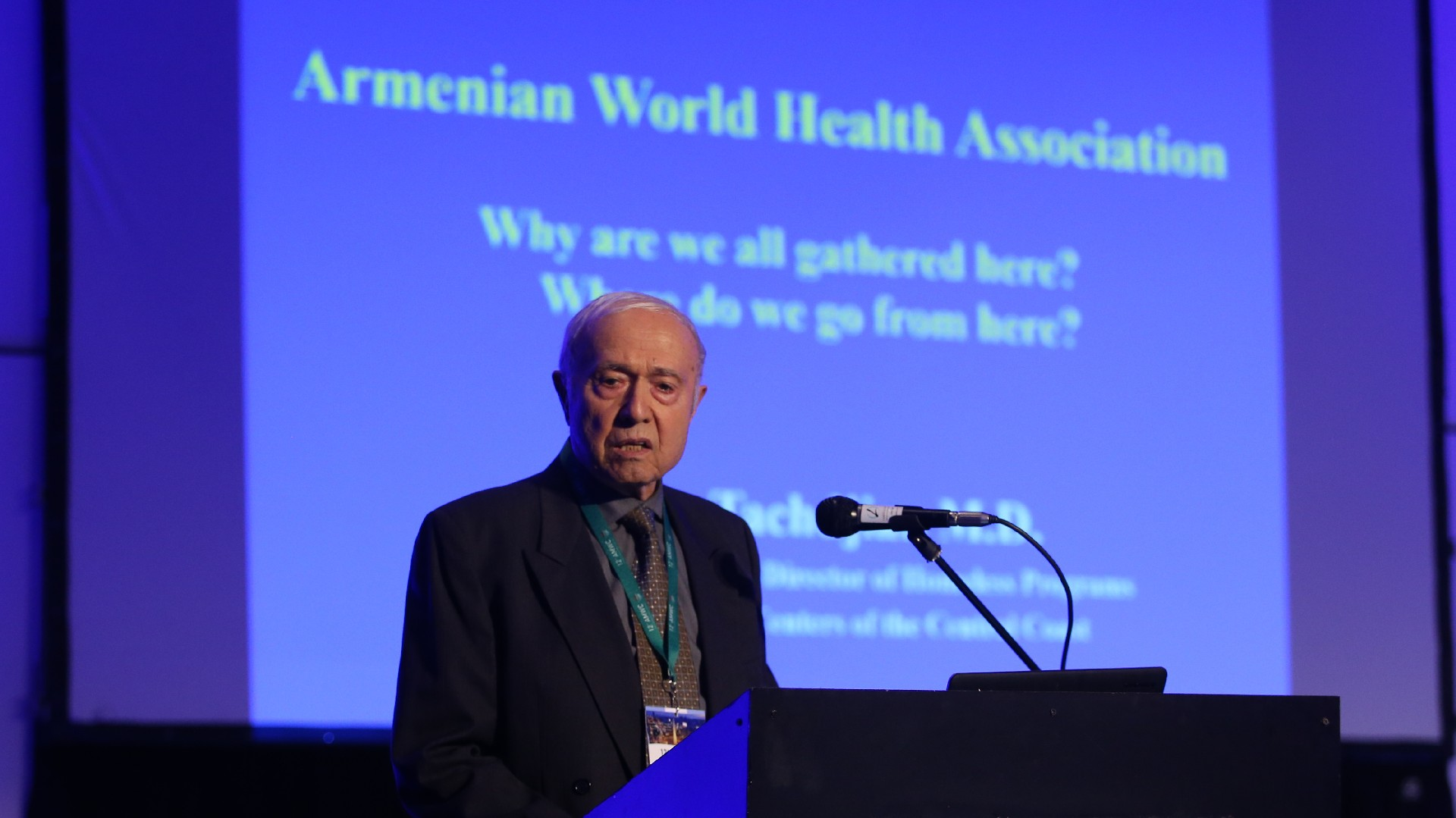 Vartan Tachdjian, vicepresidente del primer congreso de salud armenio