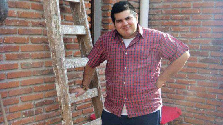 Diego cuando todavía era obeso. El peso sirvió para esconder el desarrollo de su cuerpo.