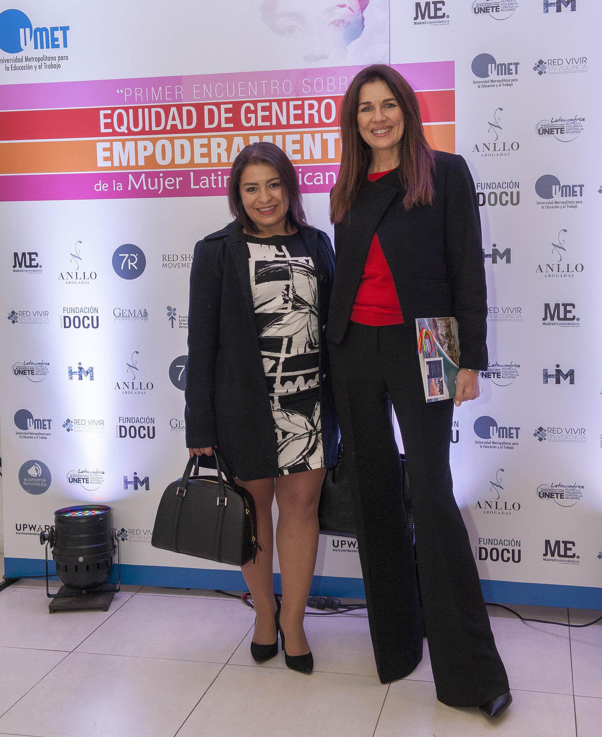 Nadia Sánchez y Andrea Frigerio