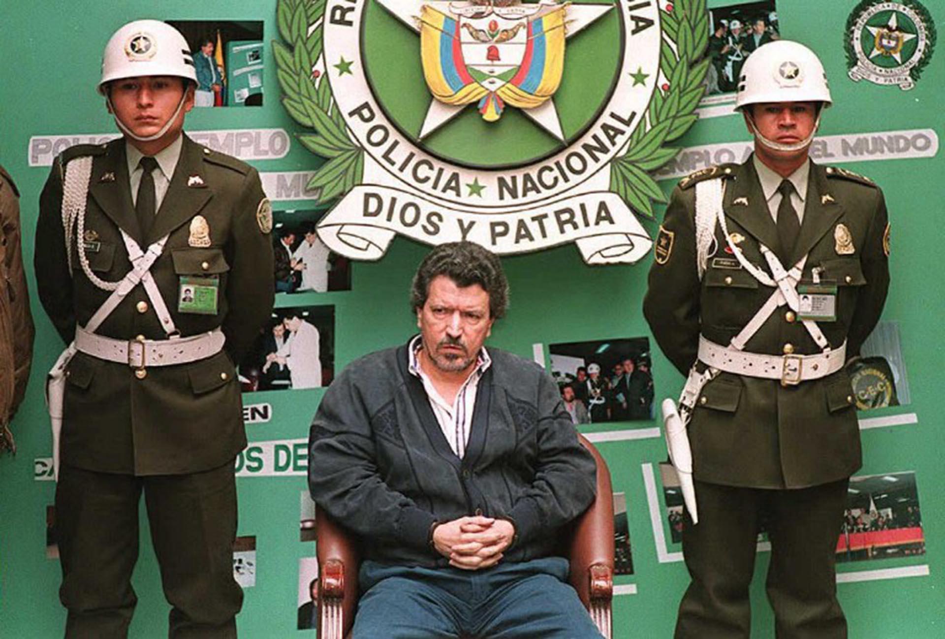 Miguel Rodríguez Orejuela cuando fue detenido en 1995 (AFP)