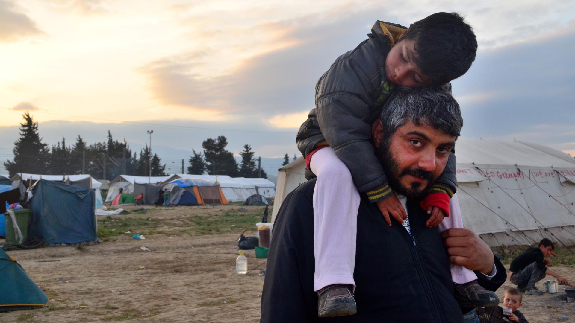 En junio de 2016 el campamento fue desmantelado por las fuerzas militares (Araz Hadjian)