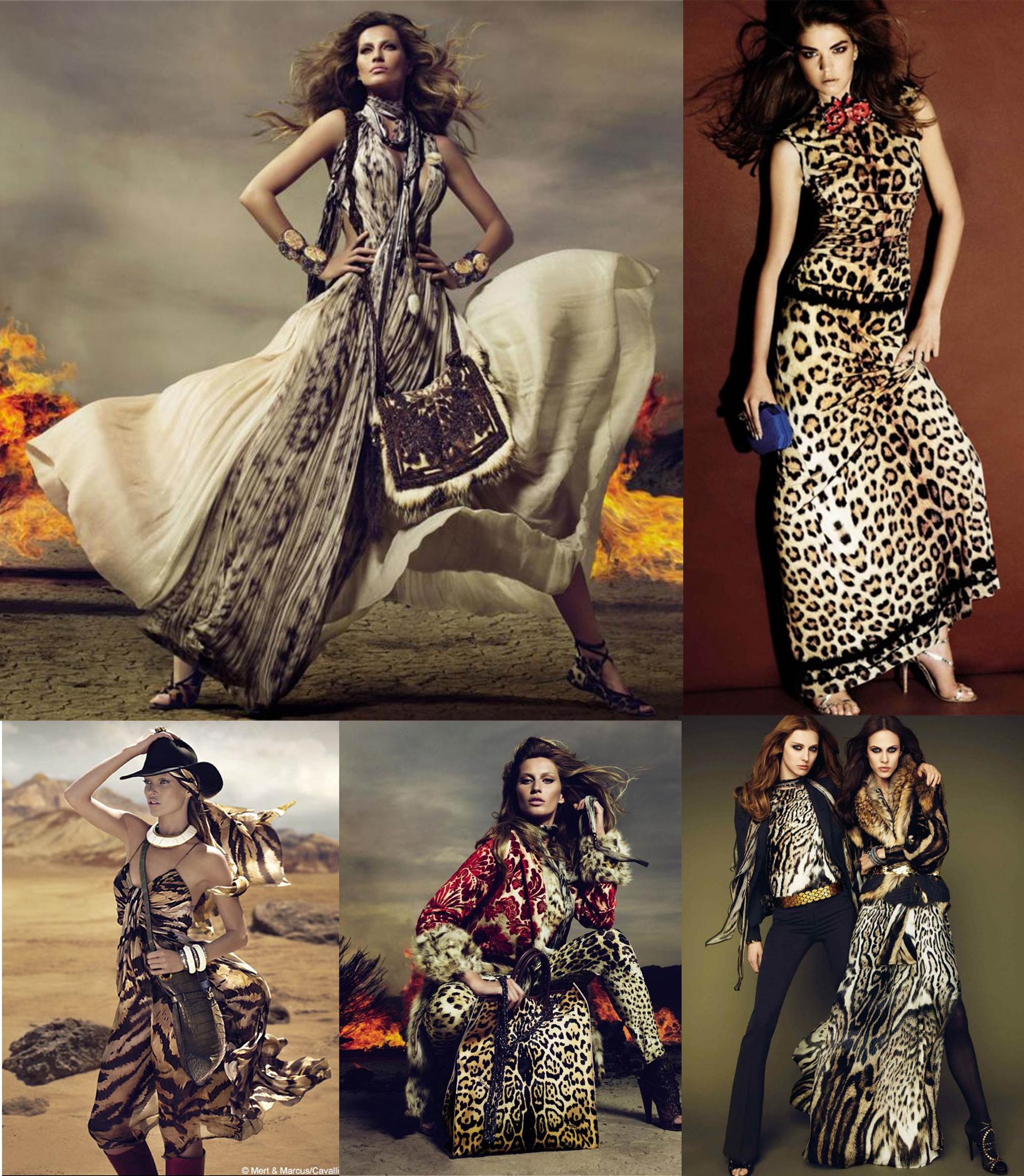 Campañas de Roberto Cavalli con la presencia de todos los prints.