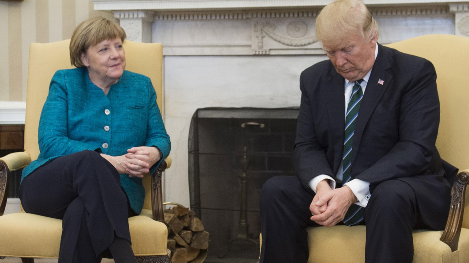 Merkel creyó que podía convencer a Trump de apostar a la lucha contra el cambio climático (Getty)