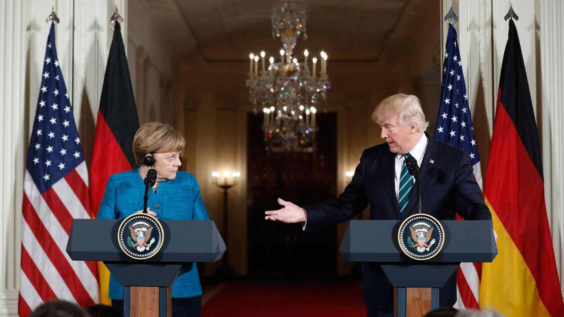 Angela Merkel y Donald Trump, durante la visita de la canciller a la Casa Blanca
