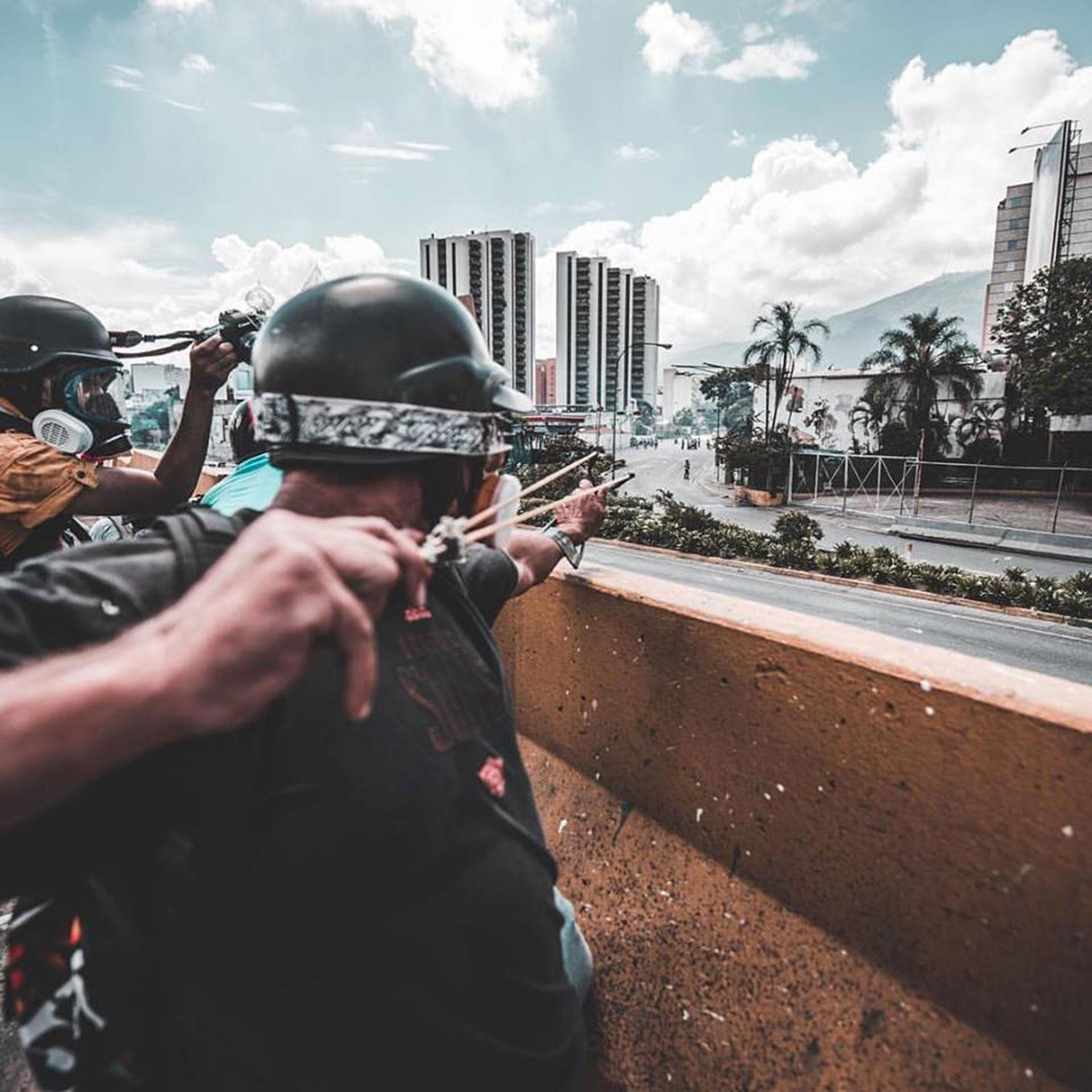 """""""Entre piedras y gas lacrimógeno 29 M"""""""