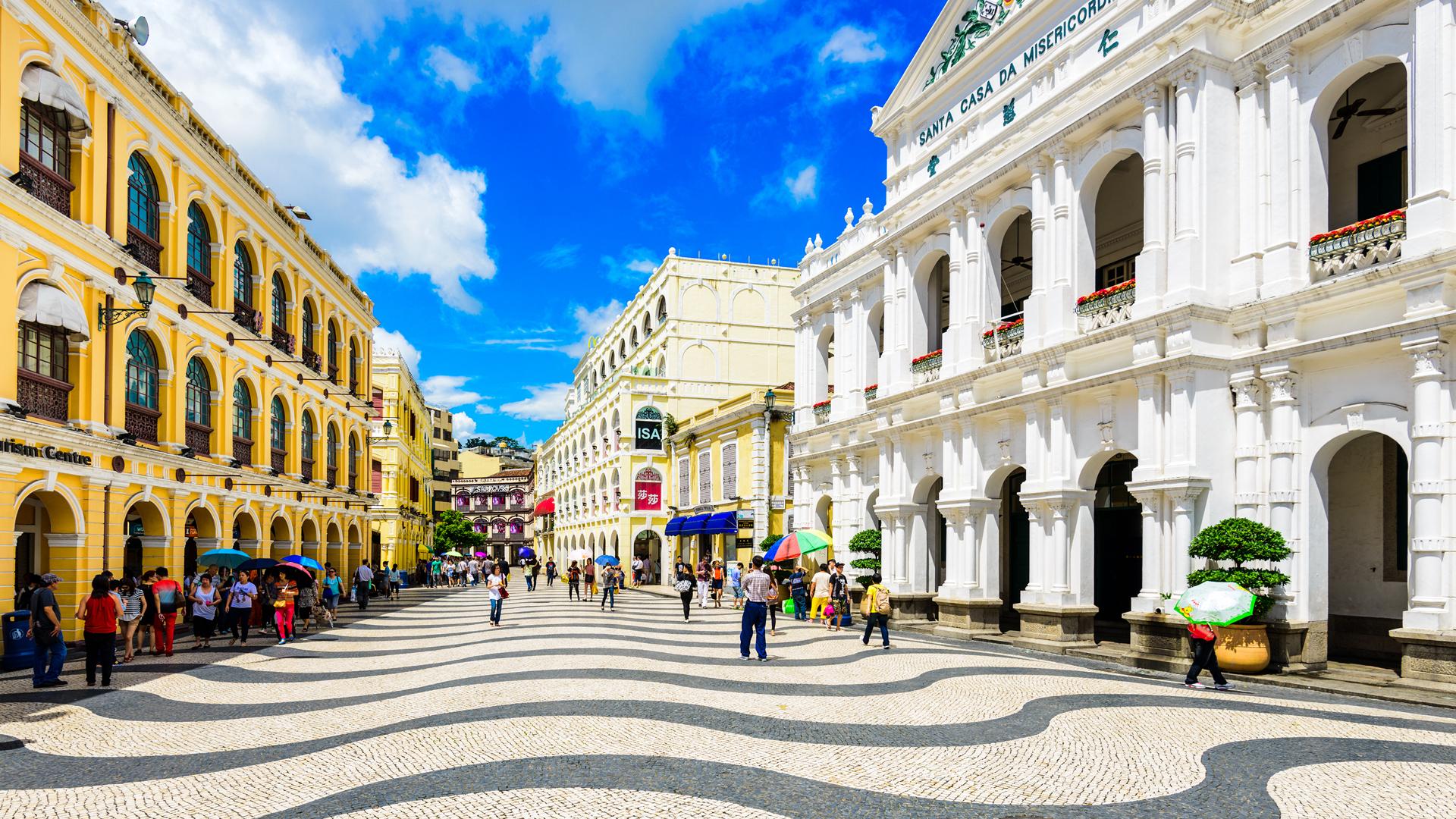 El Largo do Senado, es una plaza de Macao que forma parte del centro histórico, declarado Patrimonio de la Humanidad por la UNESCO (iStock)
