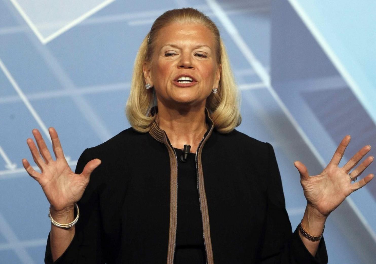 El año pasado la presidenta de IBM, Virginia Rometty,recibió un salario de USD 32,3 millones. (Fotode Alberto Estevez/European Press)