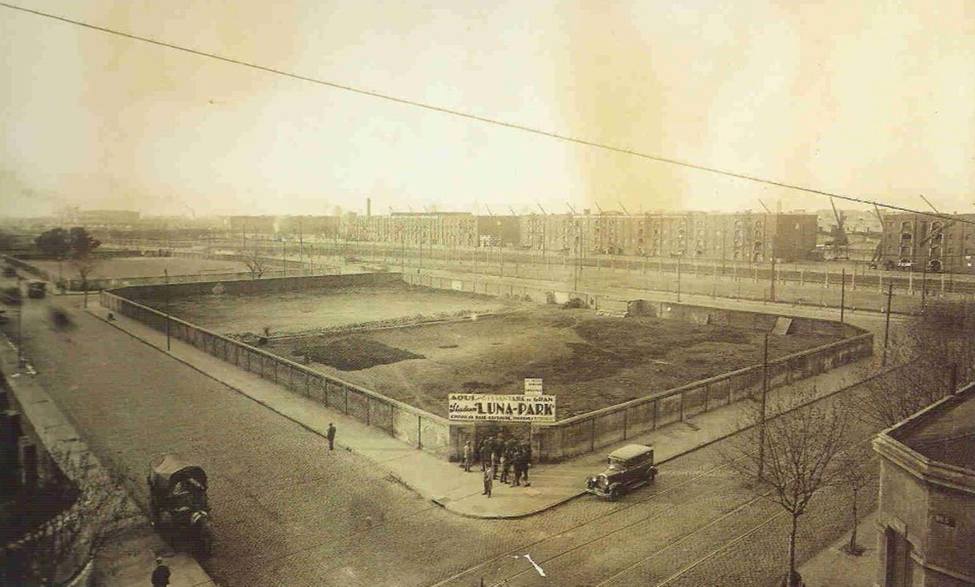 El descampado en el que se levantó el Luna Park