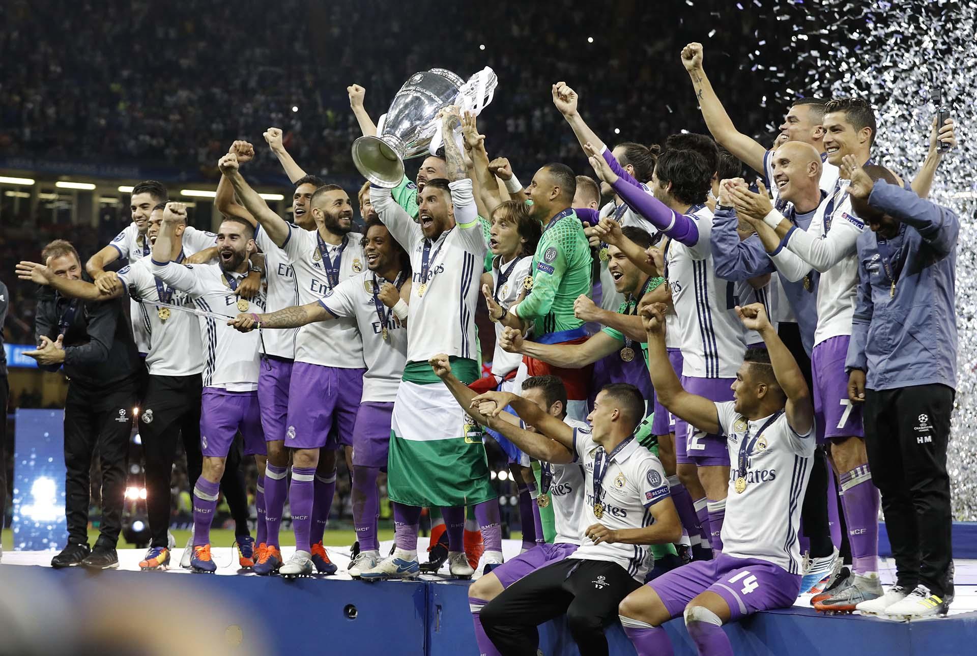 El Real Madrid ganó su tresde las cuatro últimas ediciones de la prestigiosa Champions League(Reuters)