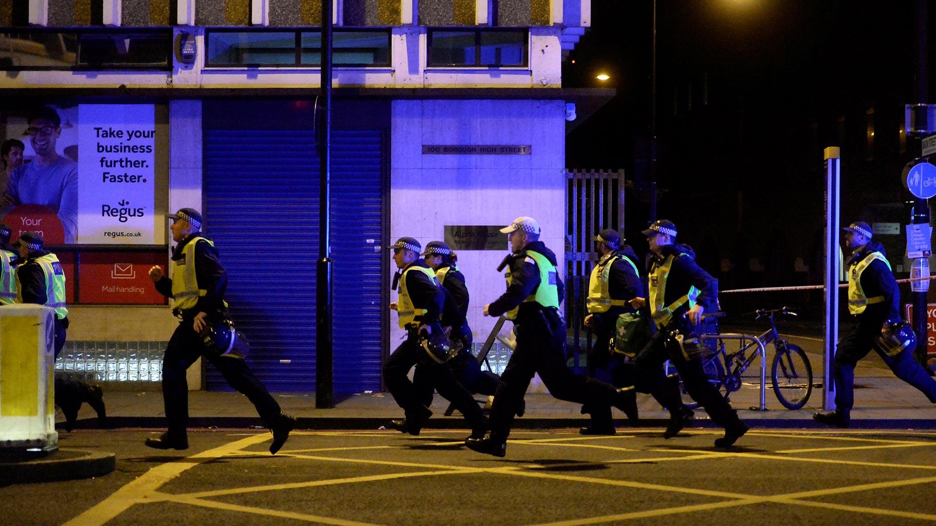 La policía respondió a tres incidentes simultáneos ocurridos en el centro de Londres (Reuters)