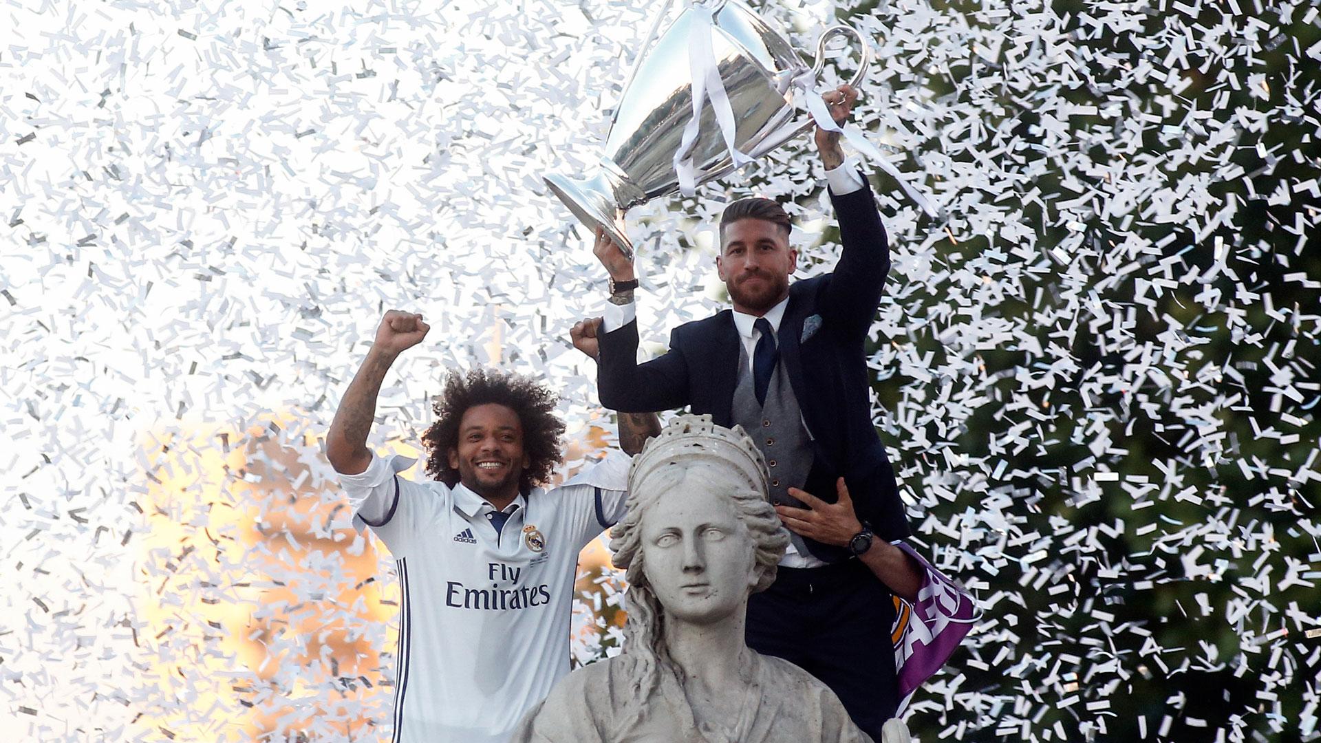 Marcelo y Sergio Ramos, dos de los pilares del equipo de Zinedine Zidane