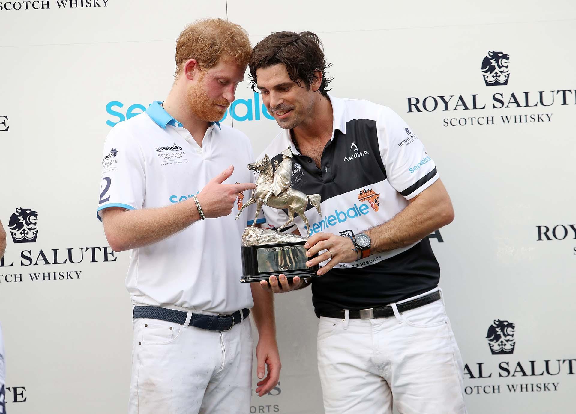 Harry y Nacho pasaron una divertida tarde solidaria practicando el deporte favorito de ambos: el polo