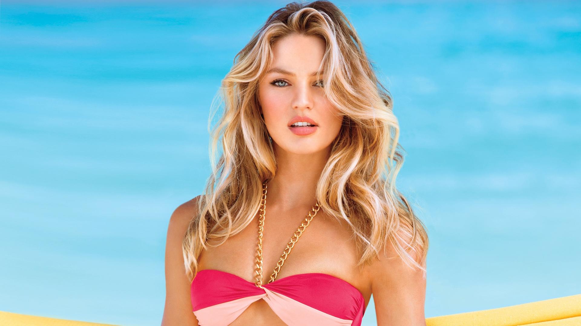 Candice, una de las modelos más fotografiadas para las campañas de Victoria's Secret Swimwear